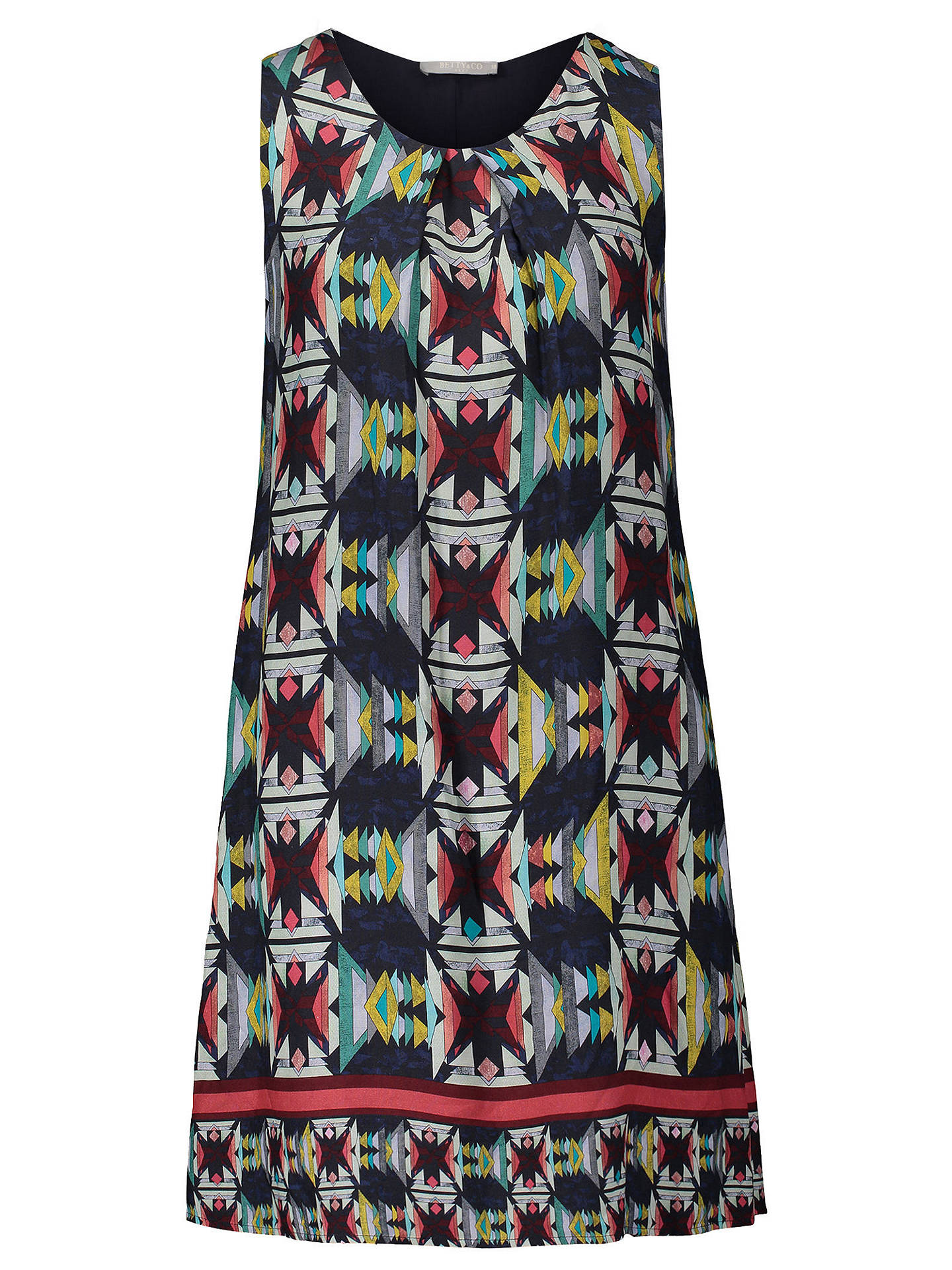 BuyBetty Barclay Graphic Print Sleeveless Dress, Multi, 10 Online at johnlewis.com