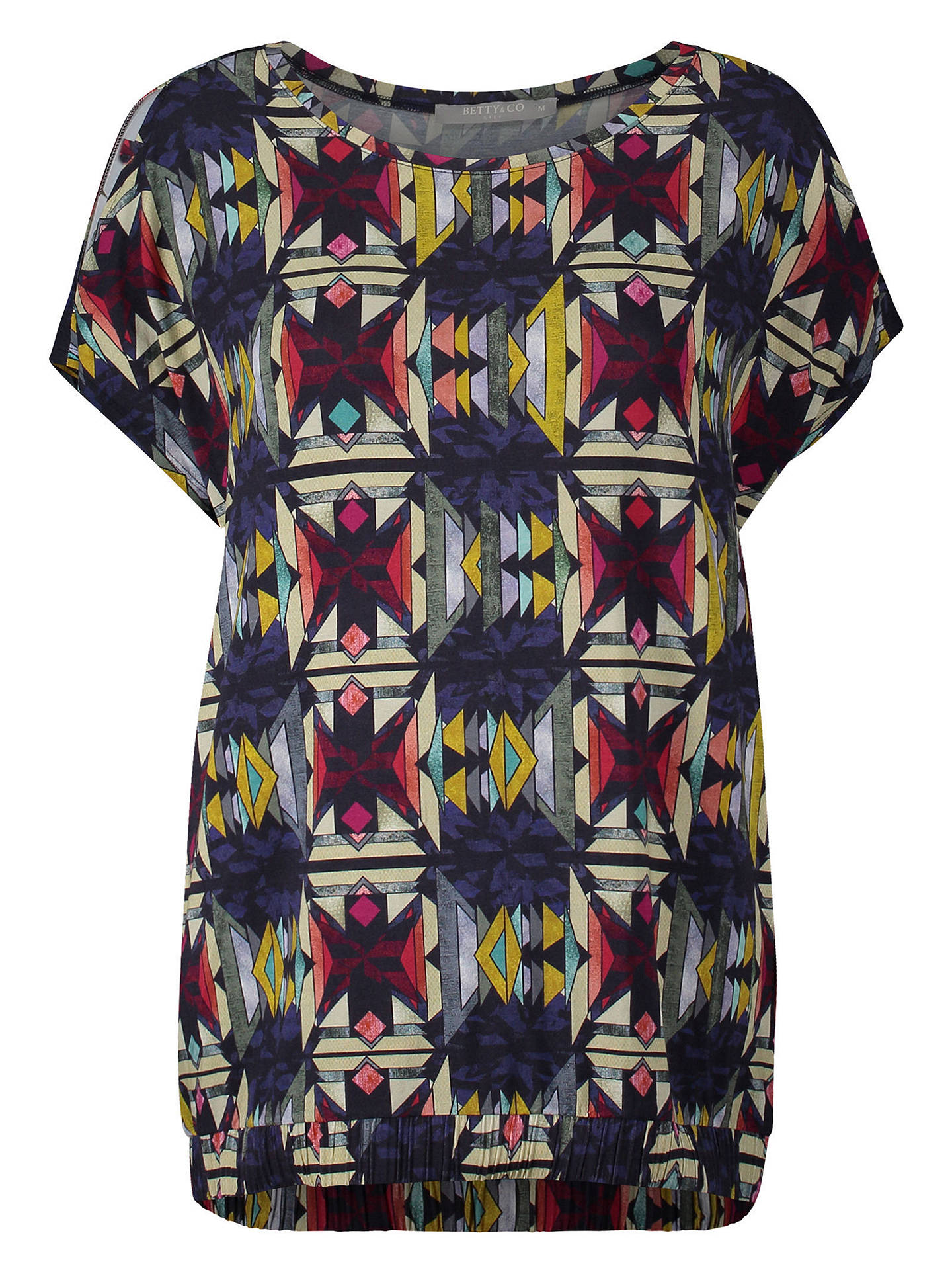 BuyBetty Barclay Aztec Print T-Shirt, Multi, L Online at johnlewis.com