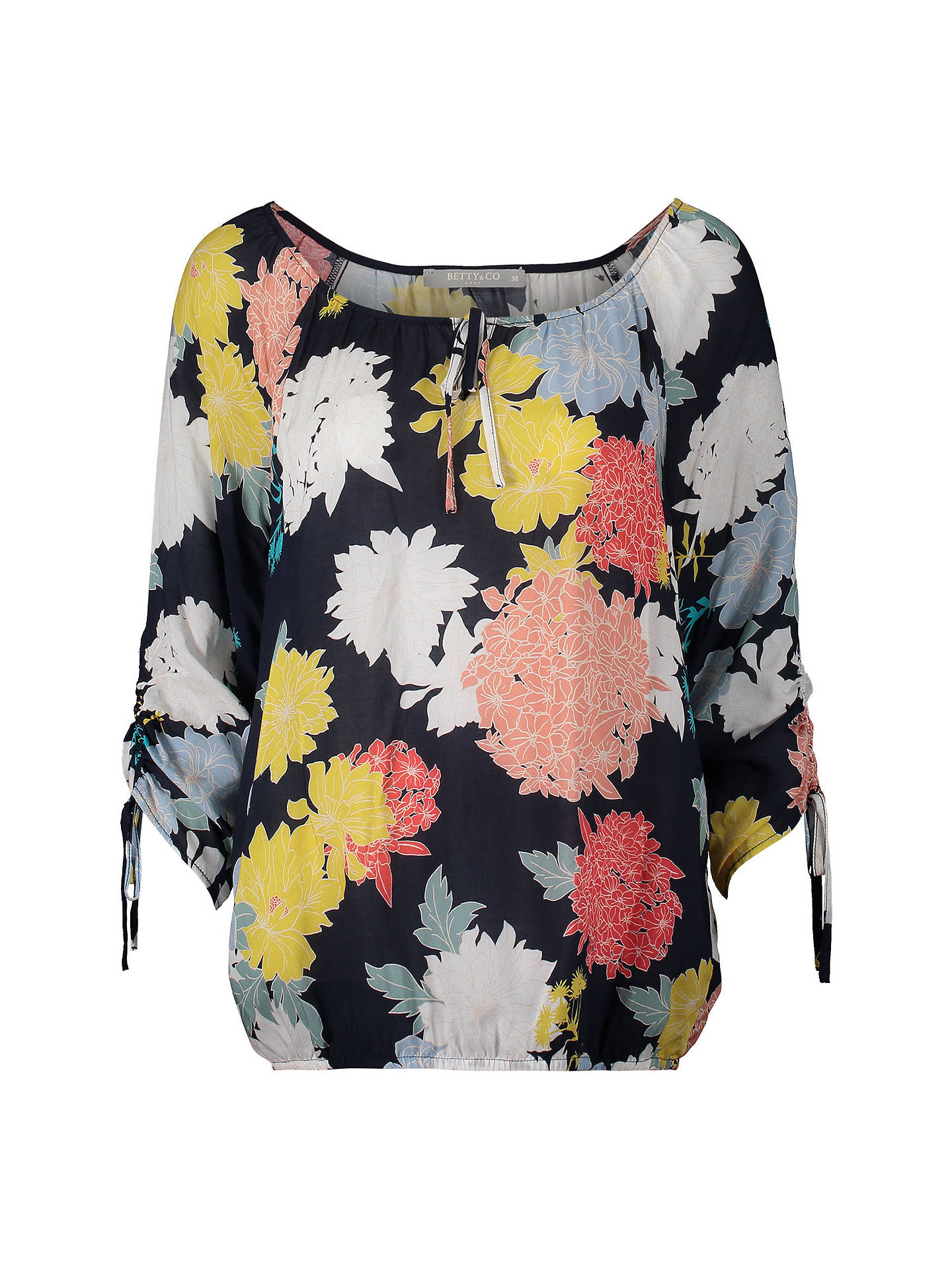 BuyBetty Barclay Floral Print Blouse, Blue/Multi, 10 Online at johnlewis.com