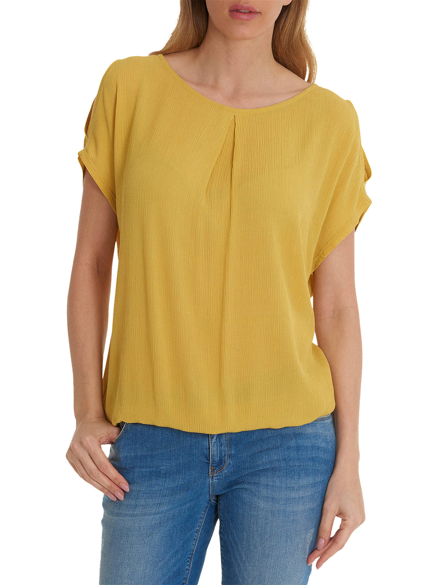 Buy Betty Barclay Textured Blouse, Golden Corn, L Online at johnlewis.com