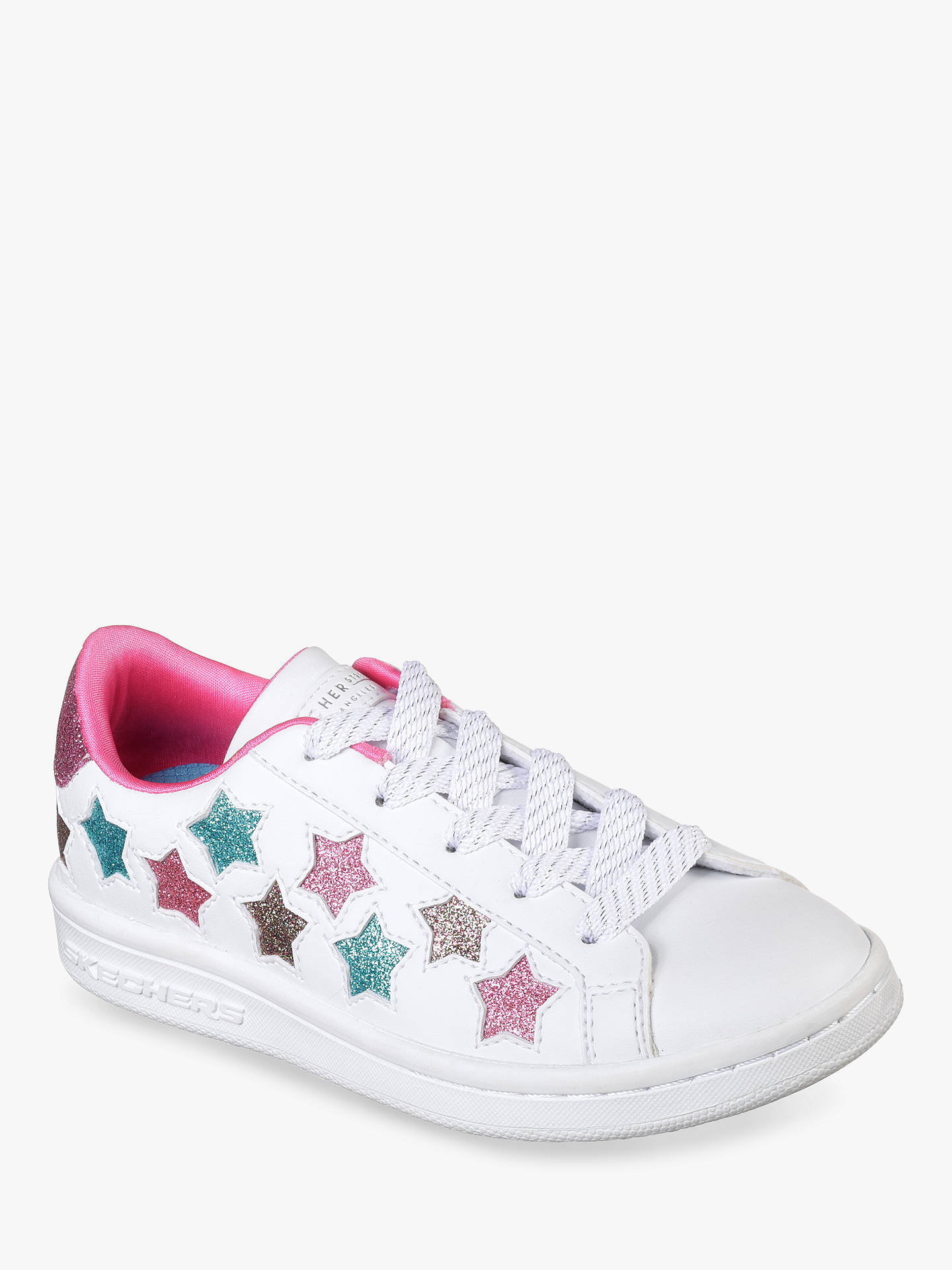BuySkechers Children's Star Trainers, White, 37 Online at johnlewis.com
