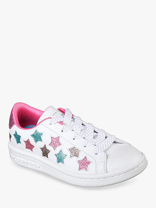 Buy Skechers Children's Star Trainers, White, 37 Online at johnlewis.com