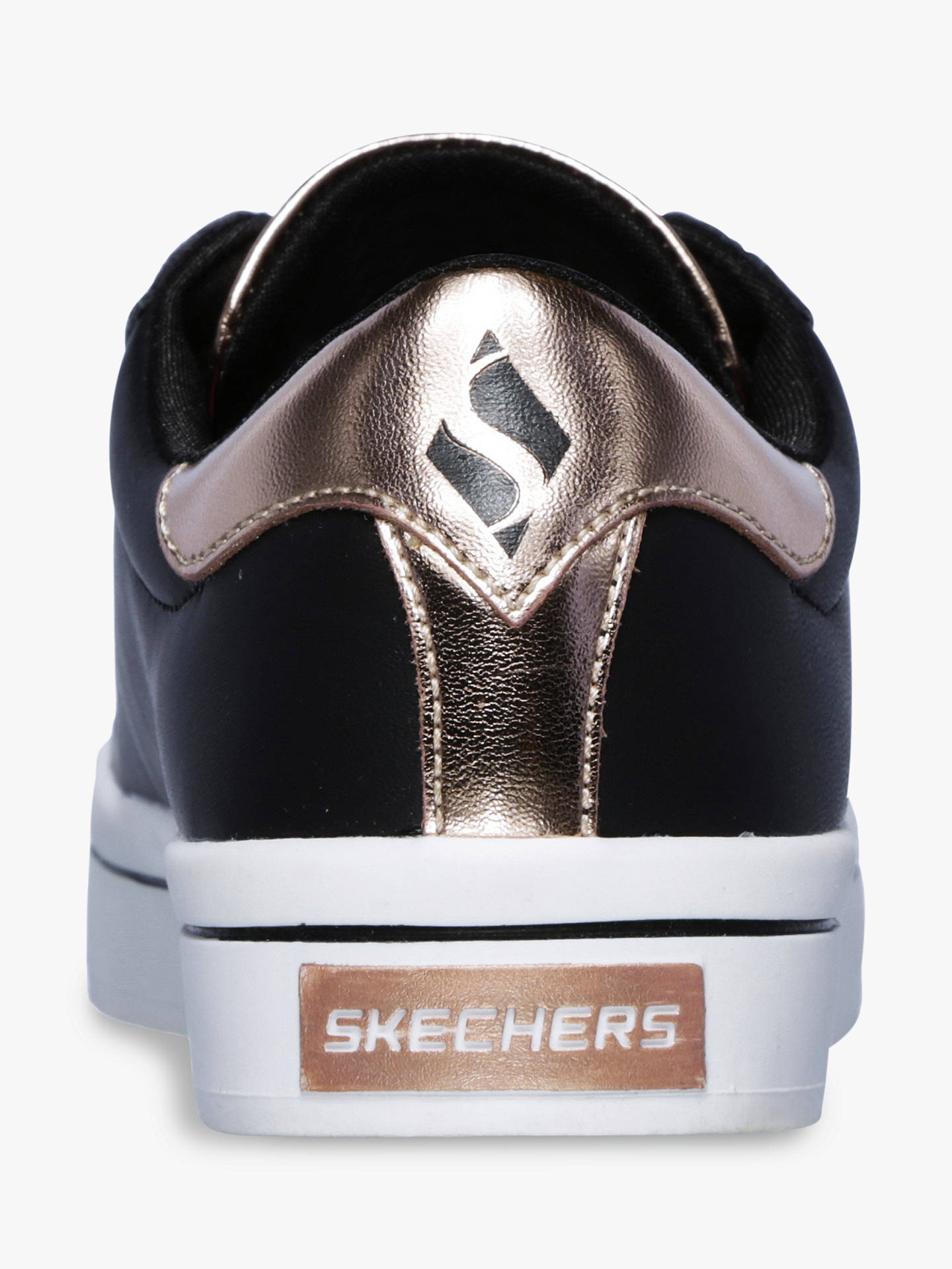 8076e6f99882b ... Buy Skechers Children's Hi Lite Metallic Lace Up Trainers, Black, 28  Online at johnlewis ...