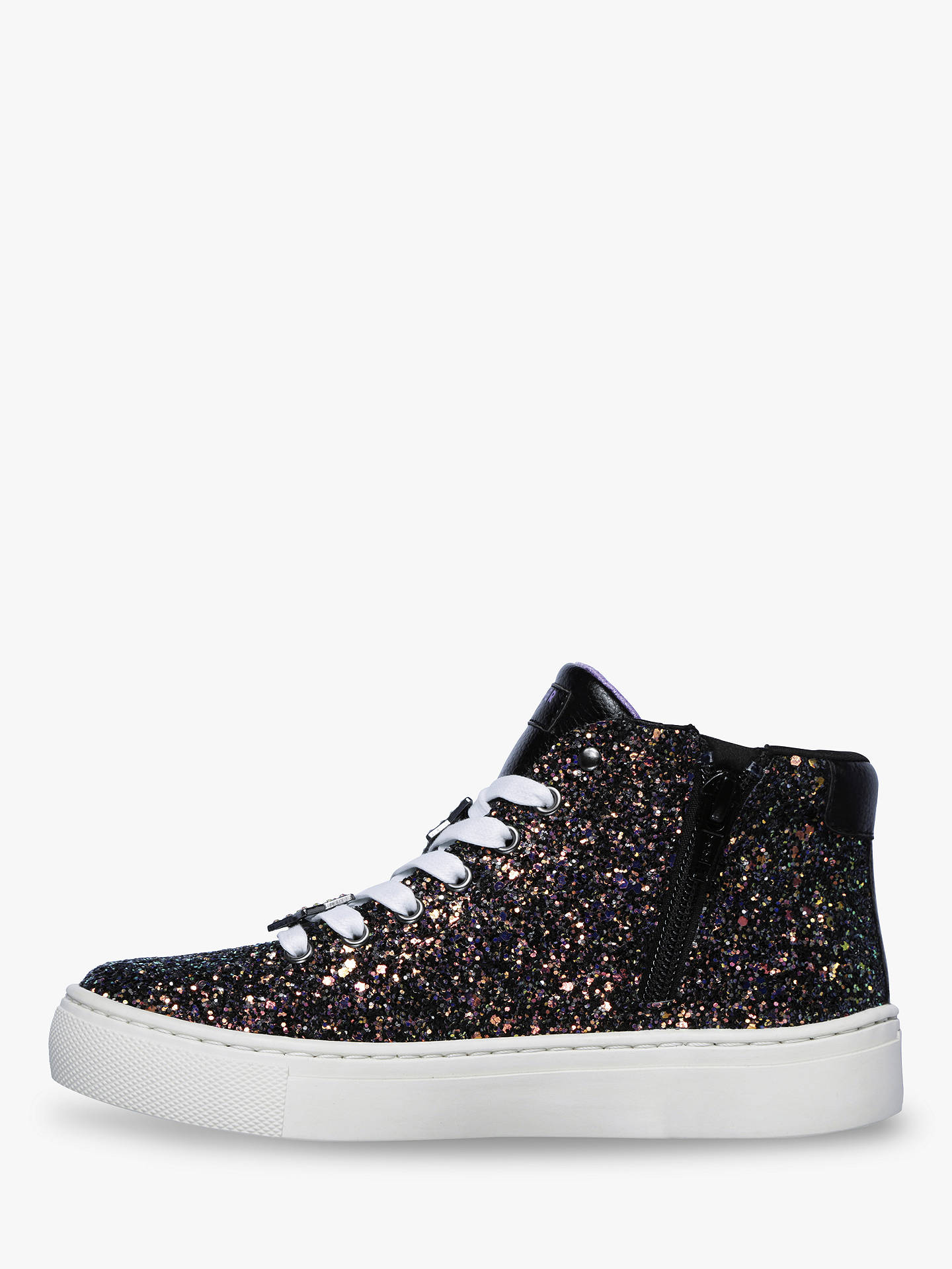 Buy Skechers Side Street Night Life High Top Trainers, Black, 38 Online at johnlewis.com