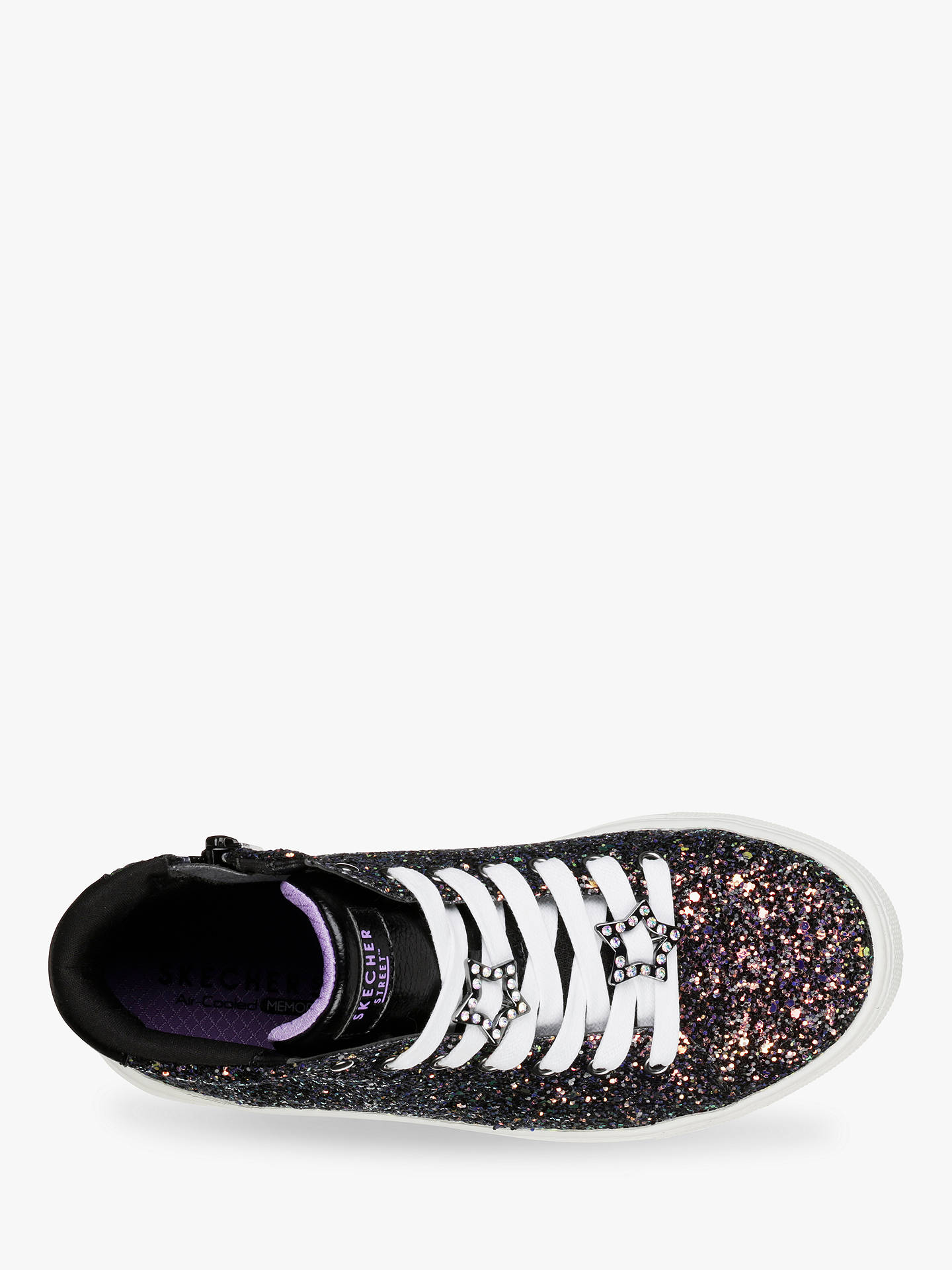 Buy Skechers Side Street Night Life High Top Trainers, Black, 30 Online at johnlewis.com