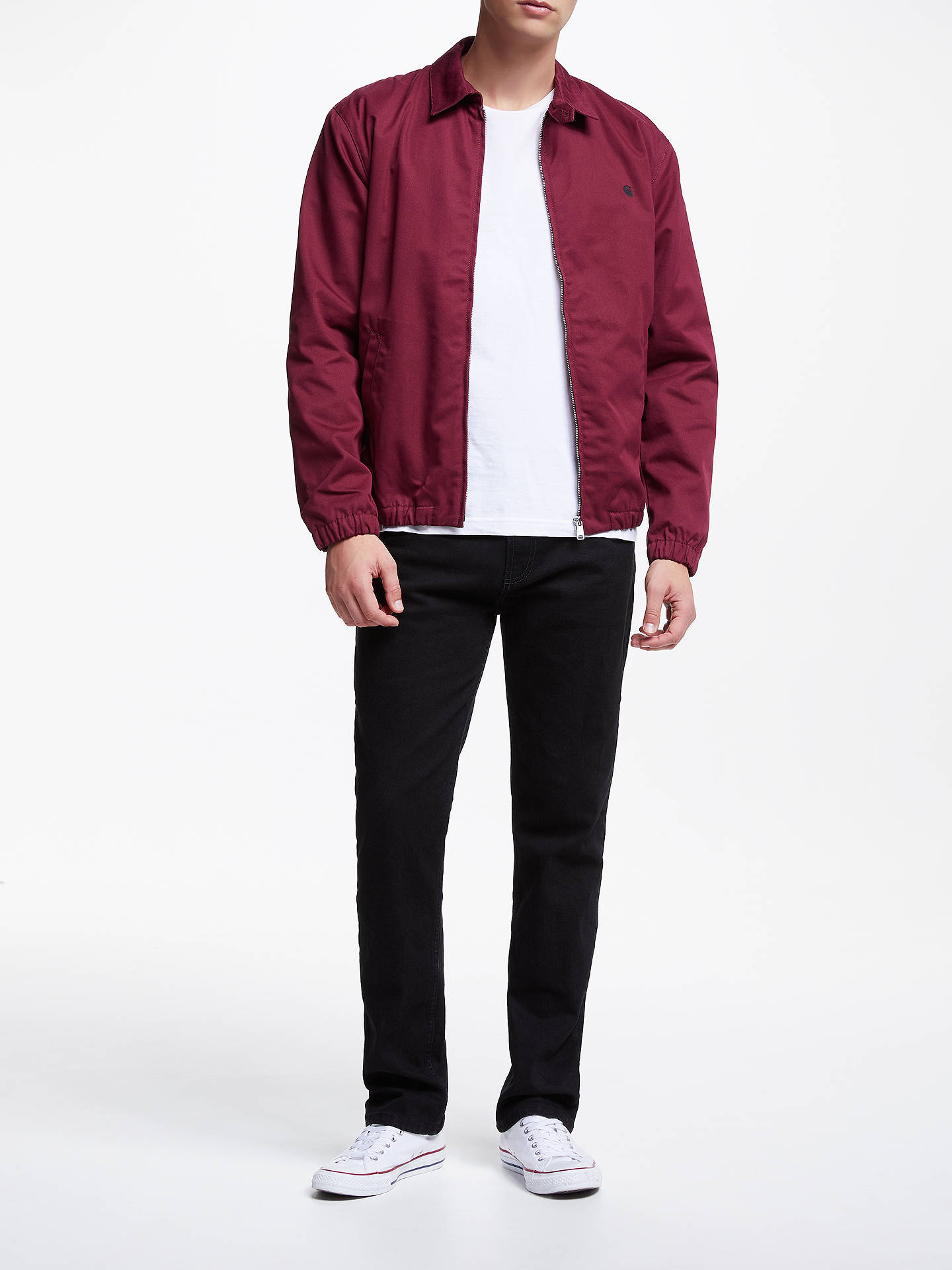 Buy Carhartt WIP Madison Twill Collared Jacket, Mulberry, S Online at johnlewis.com