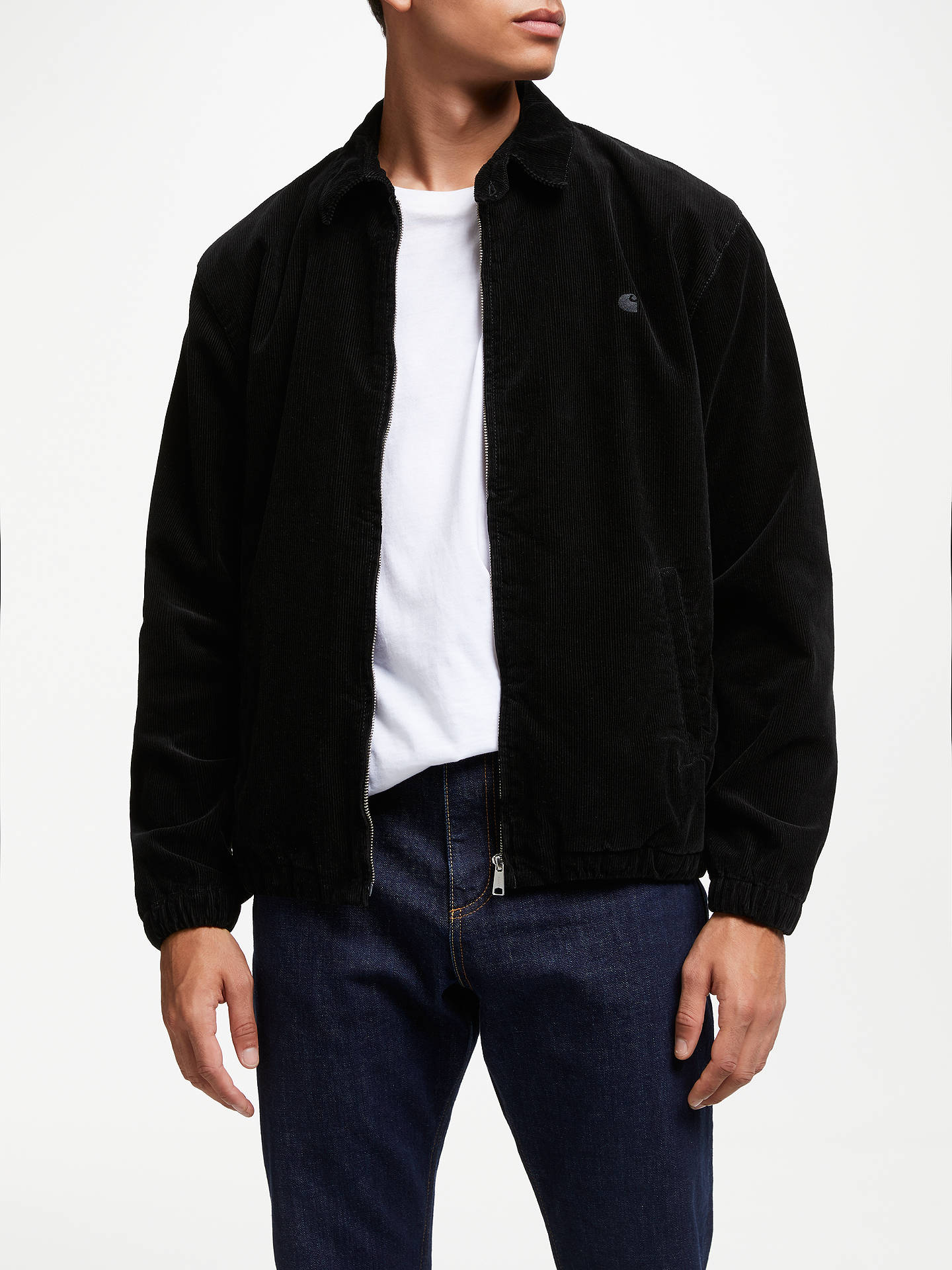 BuyCarhartt WIP Madison Cord Collared Jacket, Black, XL Online at johnlewis.com