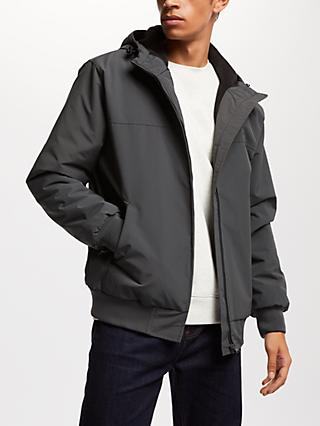 Carhartt WIP Sail Fleece Lined Hooded Jacket, Blacksmith