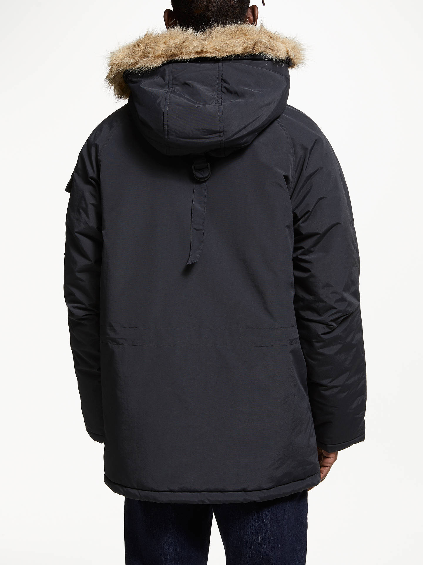 Buy Carhartt WIP Anchor Parka Coat, Black, XL Online at johnlewis.com