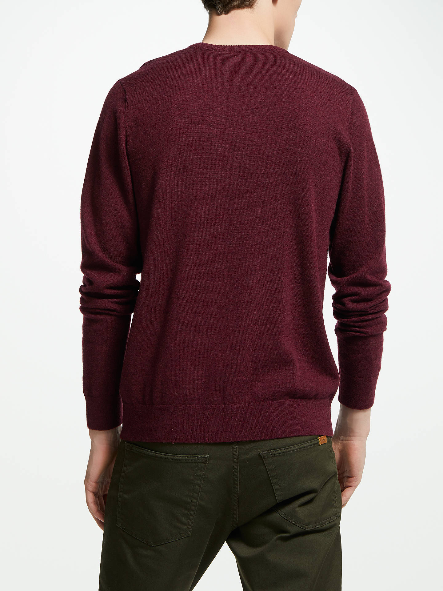 Buy Carhartt WIP Playoff Knit Jumper, Mulberry Heather, M Online at johnlewis.com