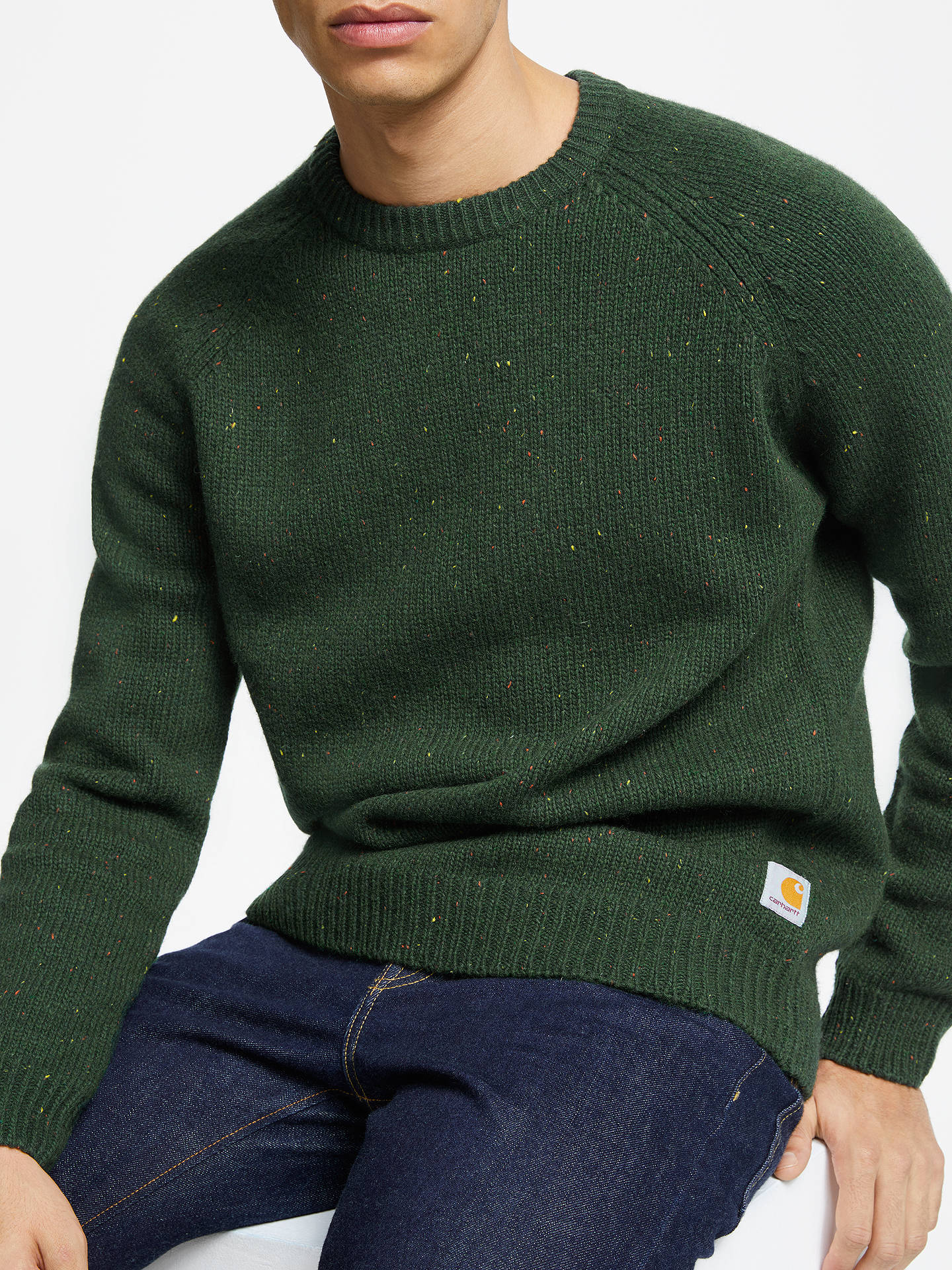 Knit Crew Carhartt Flecked Loden Jumper Neck Wip Heather Anglistic twqX1