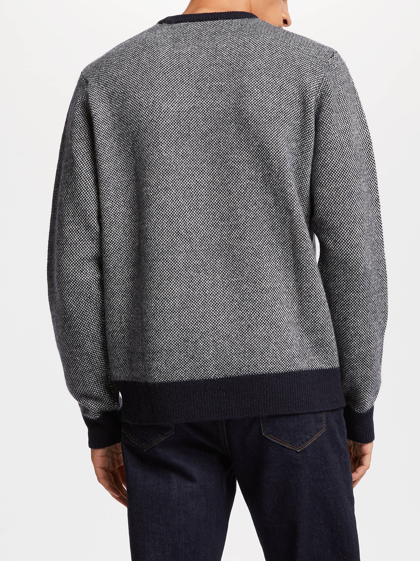 BuyCarhartt WIP Spooner Birdseye Crew Neck Jumper, Dark Navy/Snow, M Online at johnlewis.com