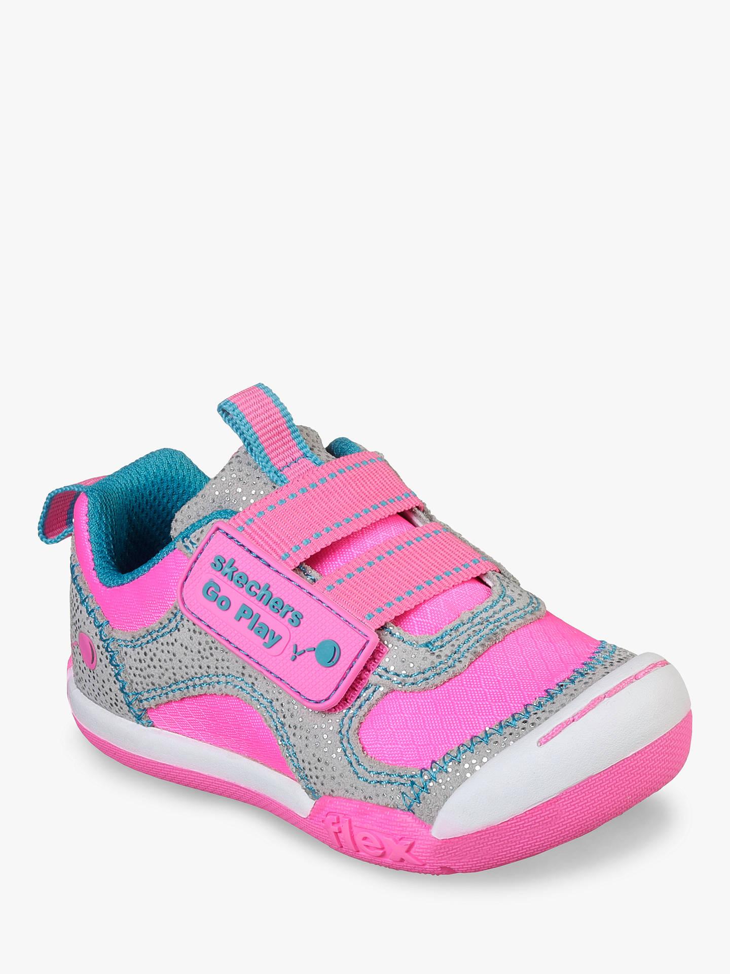 c80b598a8ddd1 Buy Skechers Children's Flex Play Trainers, Pink, 22 Online at johnlewis.  ...
