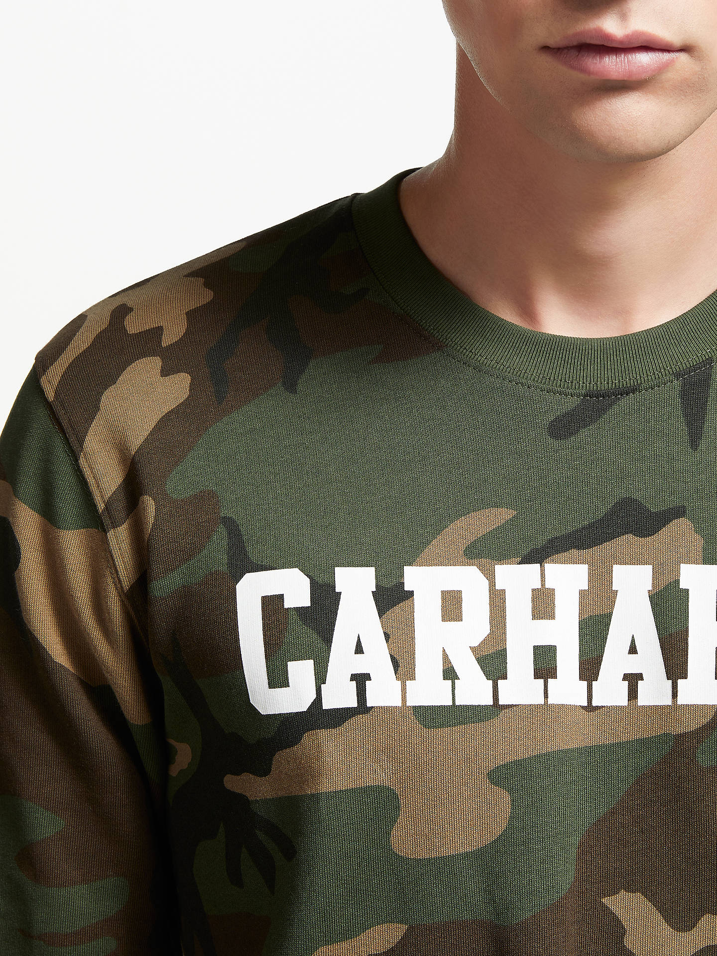 Buy Carhartt WIP College Camo Sweatshirt, Camo, M Online at johnlewis.com