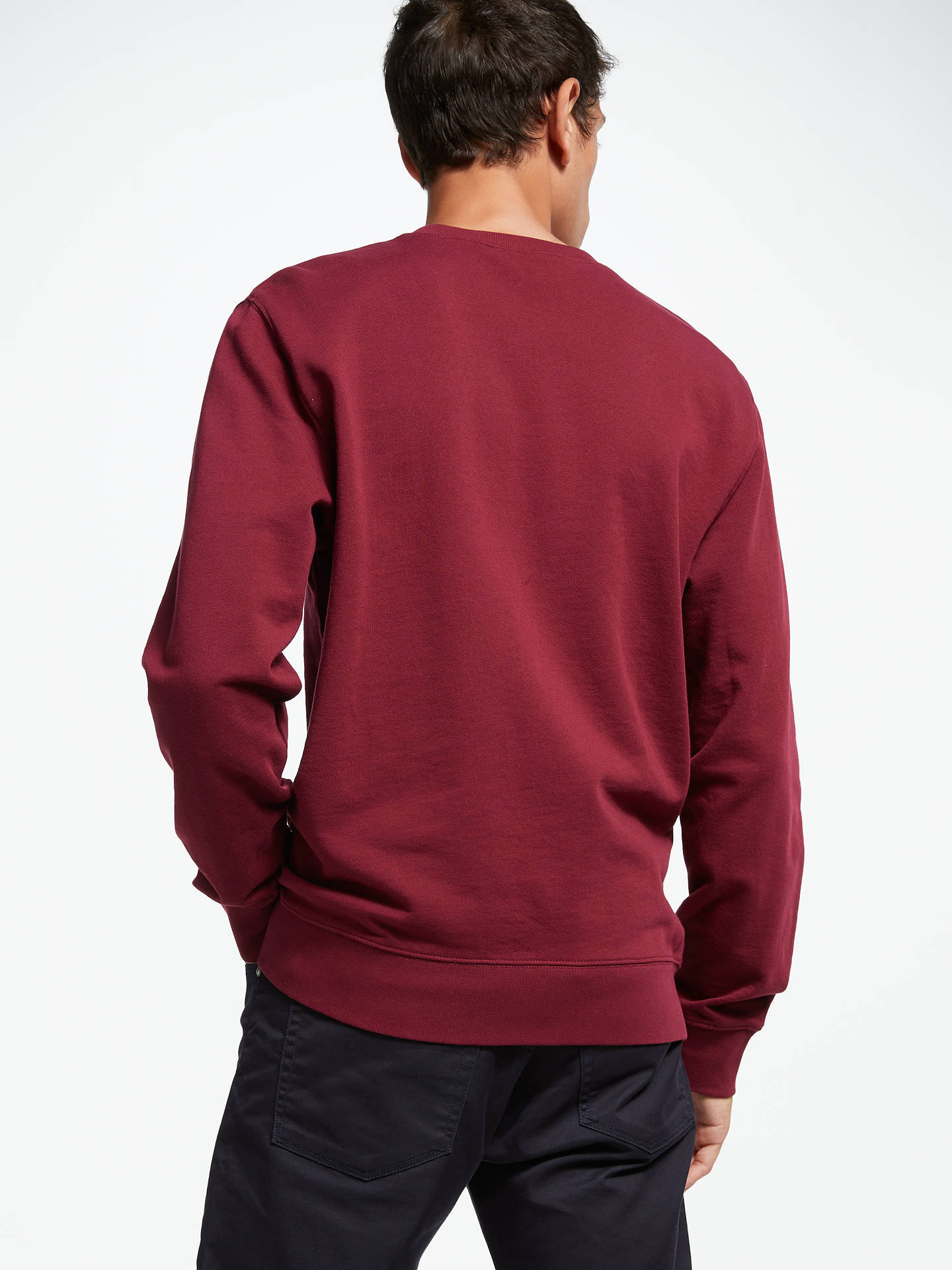 Buy Carhartt WIP College Sweatshirt, Mulberry, M Online at johnlewis.com