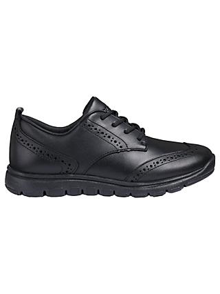 Geox Children's J Xunday Lace Up School Shoes, Black