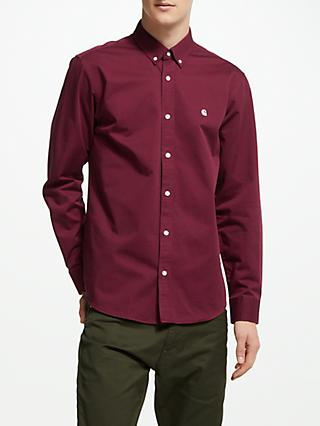 Carhartt WIP Madison Long Sleeve Shirt, Mulberry