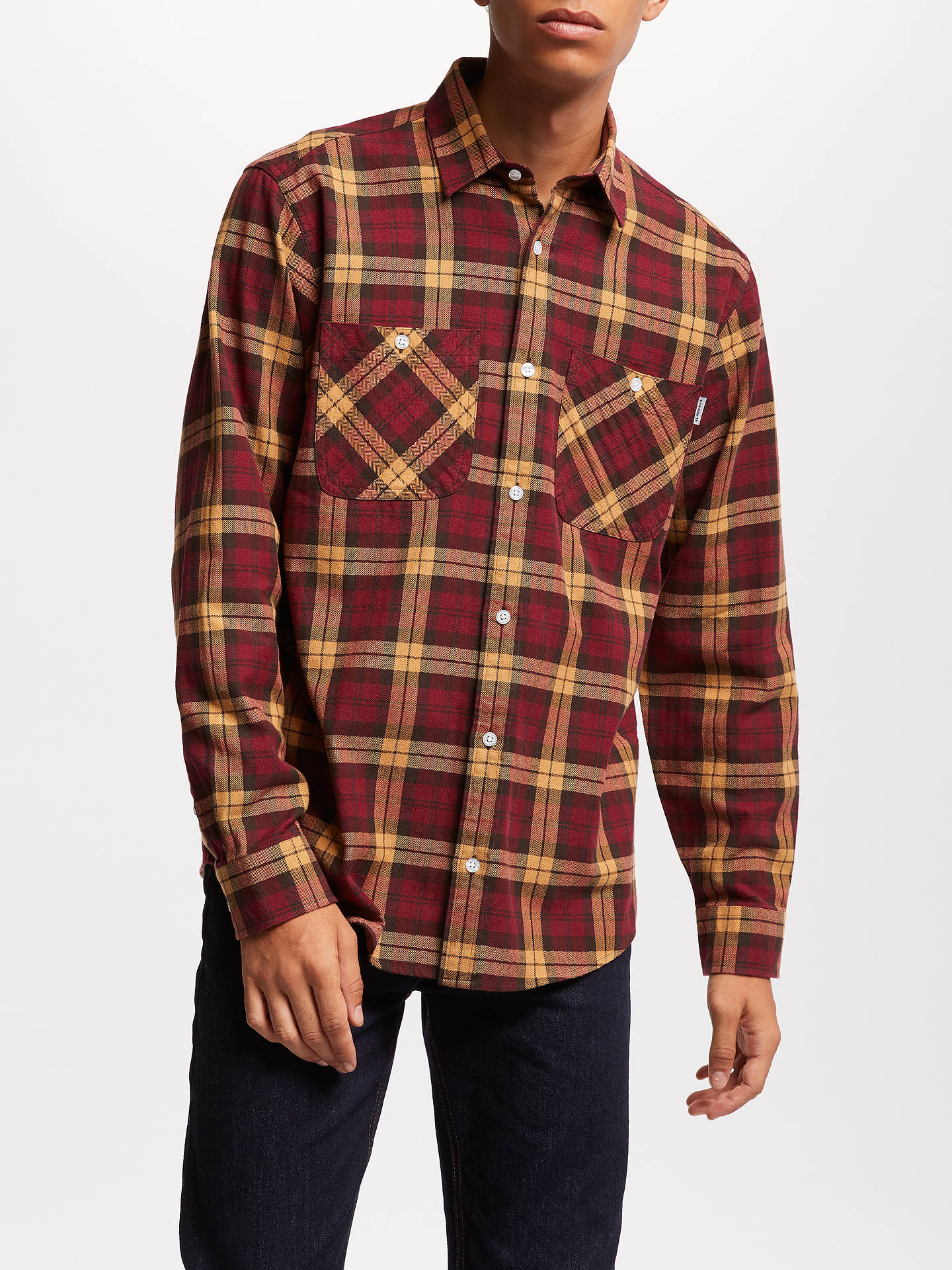 BuyCarhartt WIP Sloman Long Sleeve Check Shirt, Sloman/Mulberry/Fawn, M Online at johnlewis.com