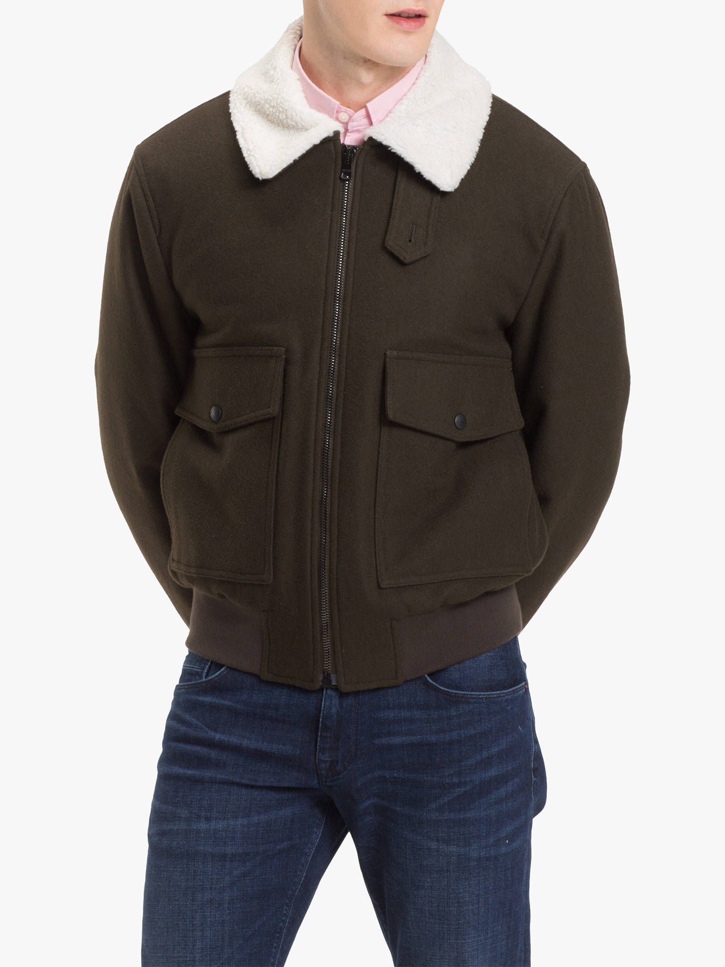 daab010aaedd7 Buy Tommy Hilfiger Melton Wool Bomber Jacket