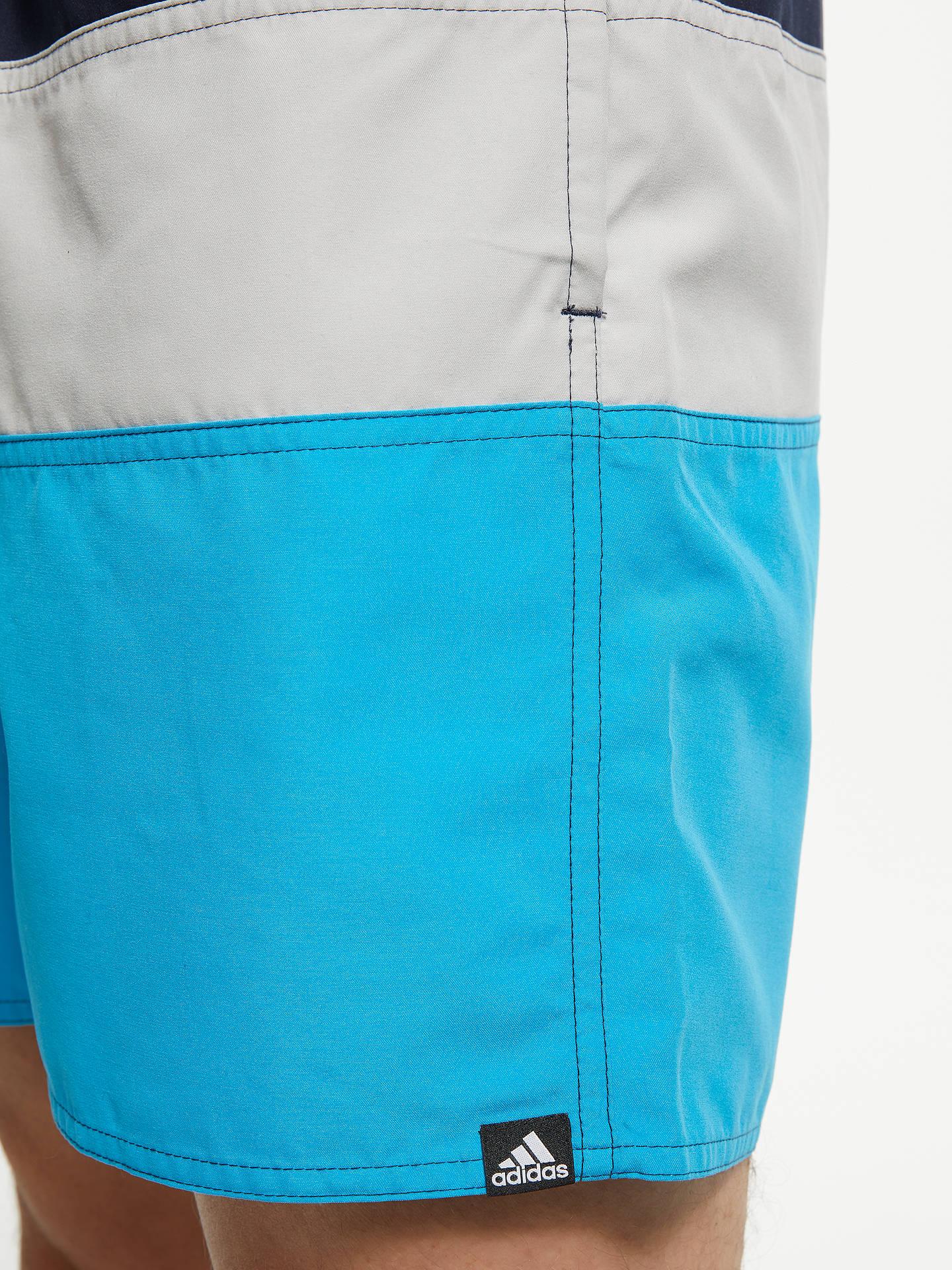 717539f57c ... Buy adidas Colour Block Swim Shorts, Legend Ink/Grey Two/Shock Cyan, ...