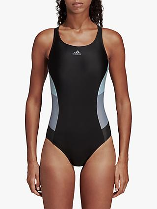 6b4915d27f adidas Athly X Colourblock Swimsuit, Black/Grey