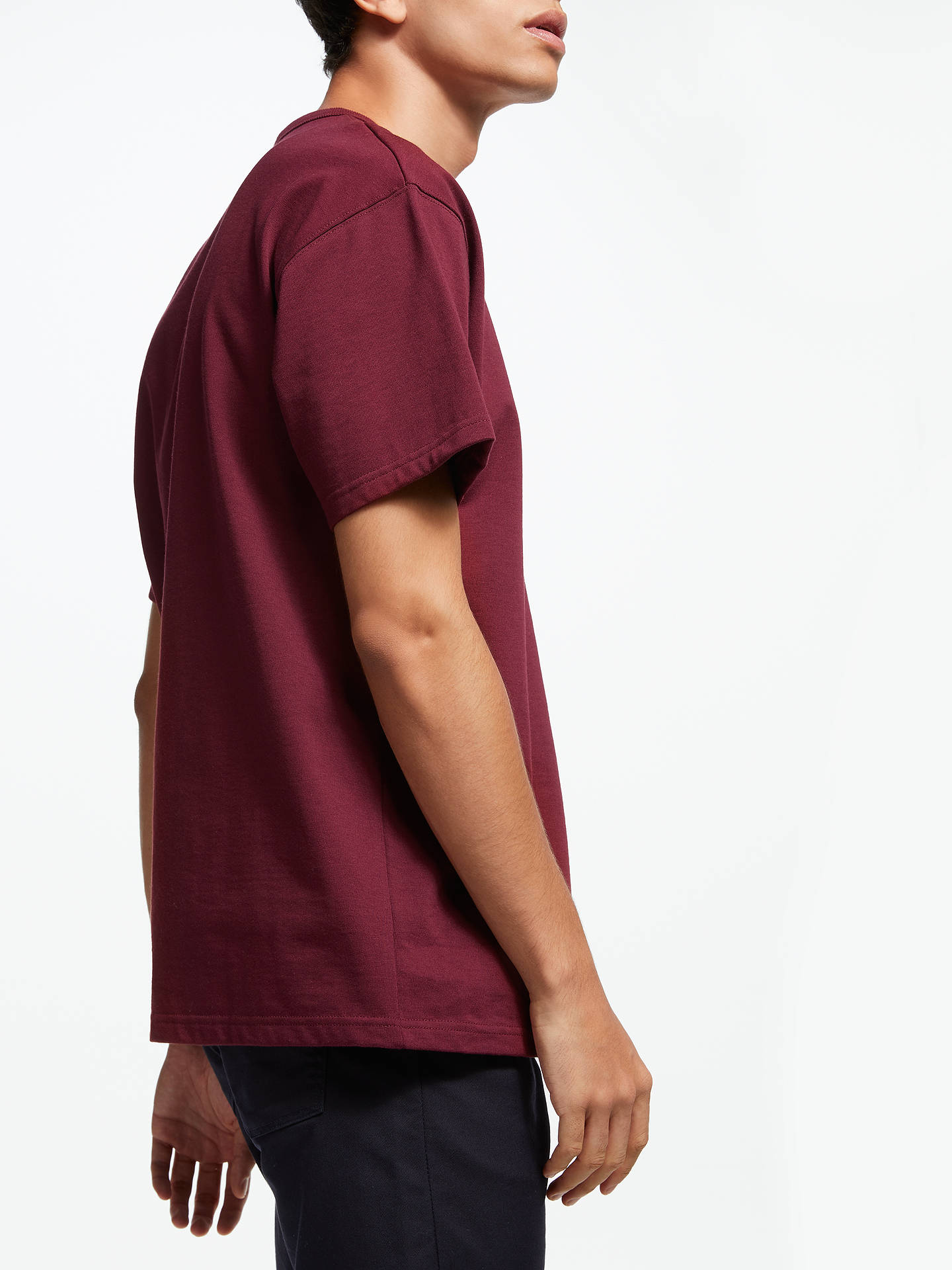 Buy Carhartt WIP Spill Logo T-Shirt, Mulberry, M Online at johnlewis.com