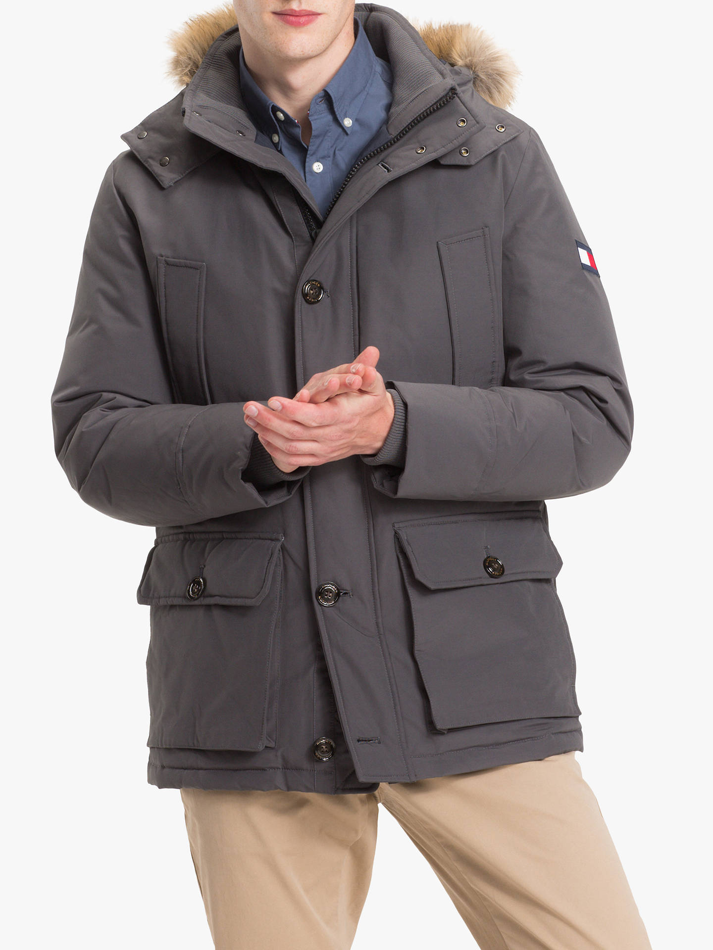 c67ca3fa Buy Tommy Hilfiger Hampton Down Parka Jacket, Magnet, L Online at  johnlewis.com ...