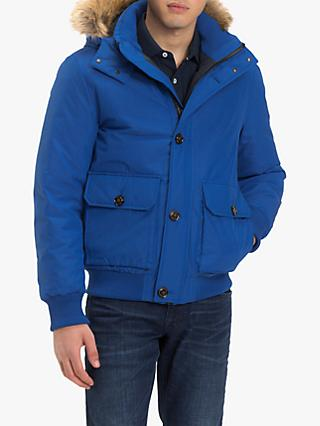 Tommy Hilfiger Hampton Down Bomber Jacket, Blue Lolite