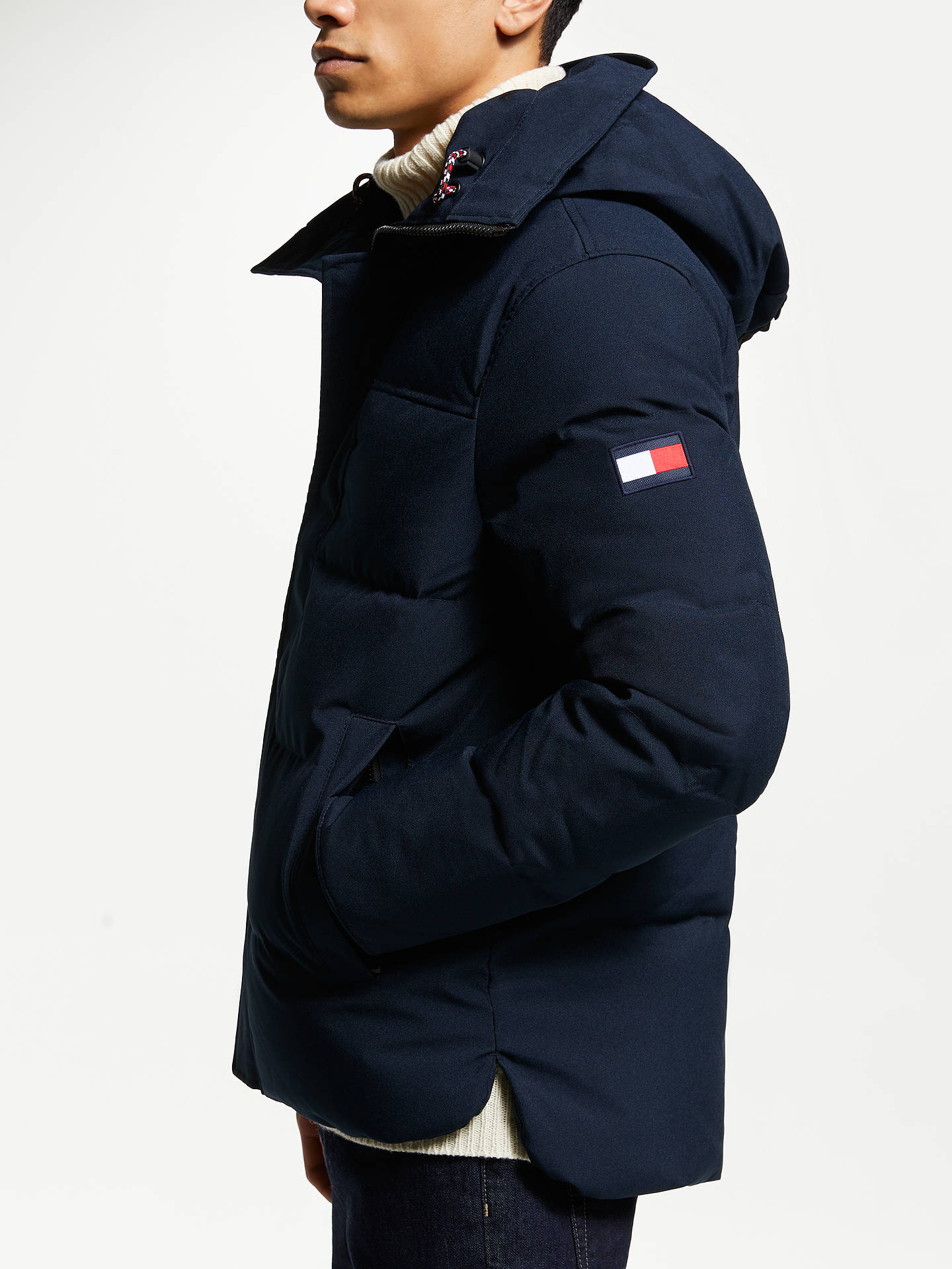 Tommy Hilfiger Mens Heavy Canvas Down Parka