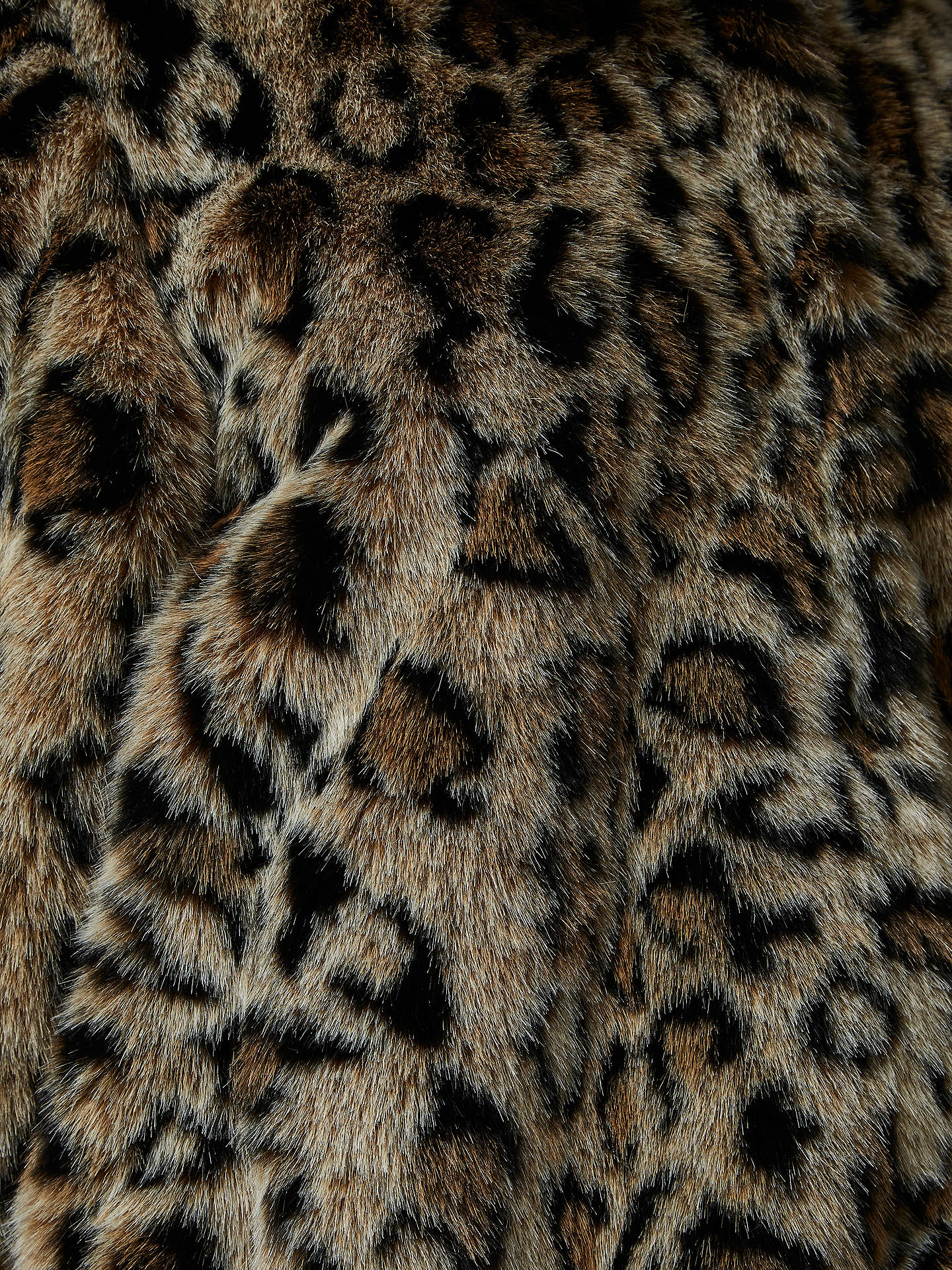 Buy Selected Femme Faux Fur Leopard Print Coat, Black Leopard, 10 Online at johnlewis.com