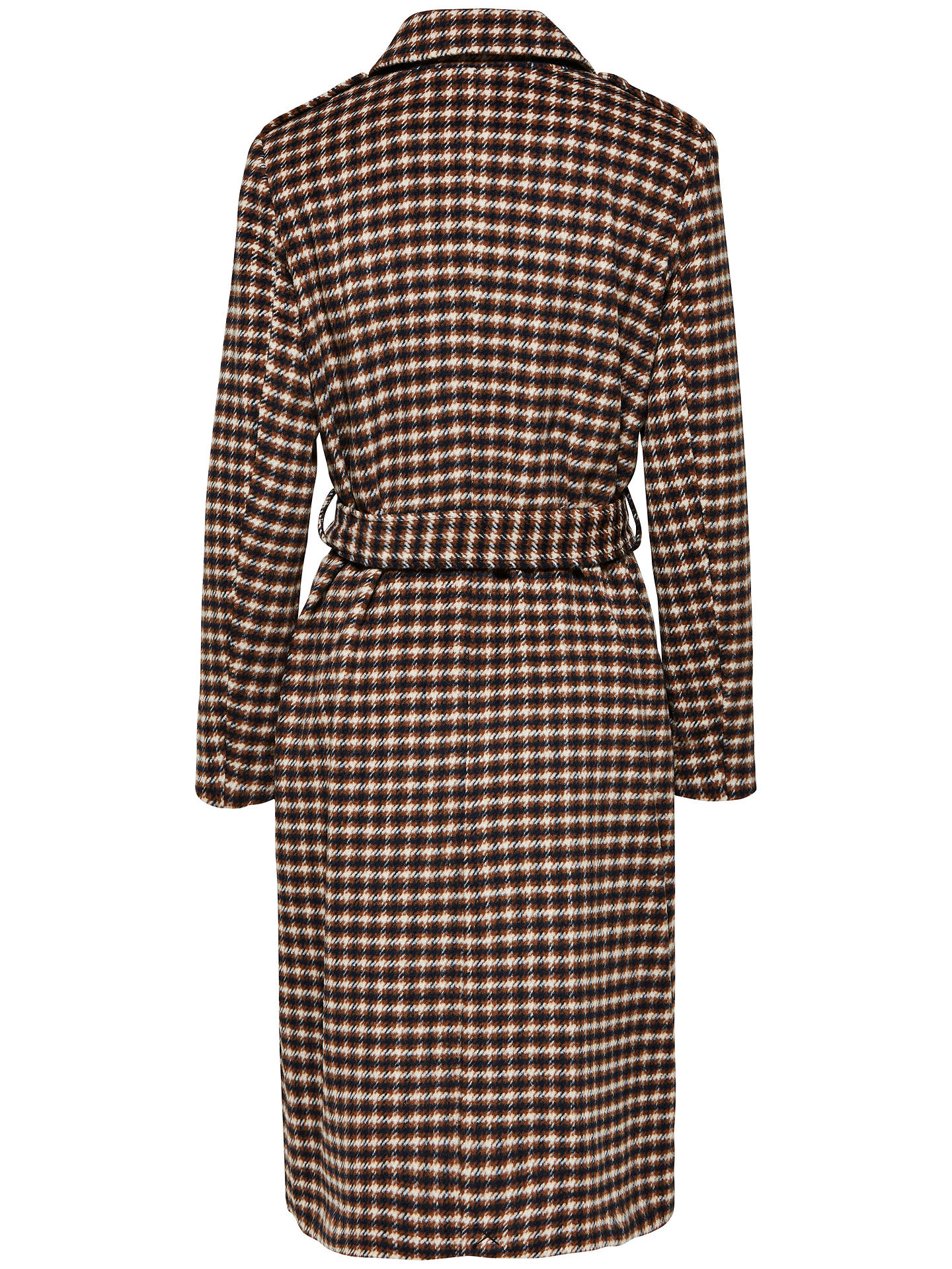 BuySelected Femme Wool Check Coat, Sand Dollar, 8 Online at johnlewis.com