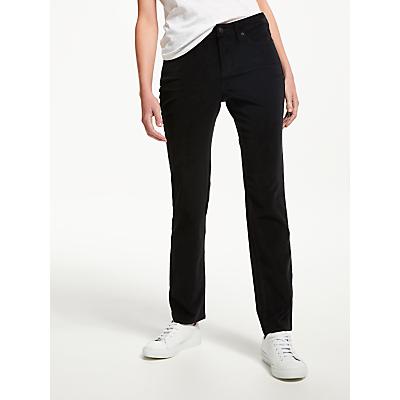 NYDJ Sheri Slim Velvet Jeans, Black