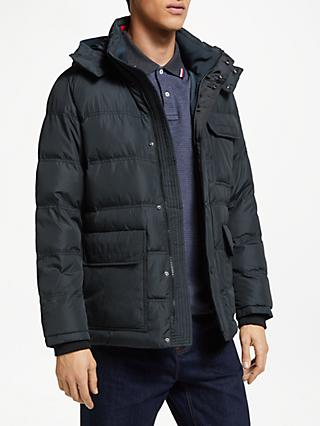 Tommy Hilfiger Down Hooded Bomber Jacket, Black