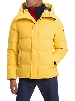 Tommy Hilfiger Canvas Down Bomber Jacket, Yellow