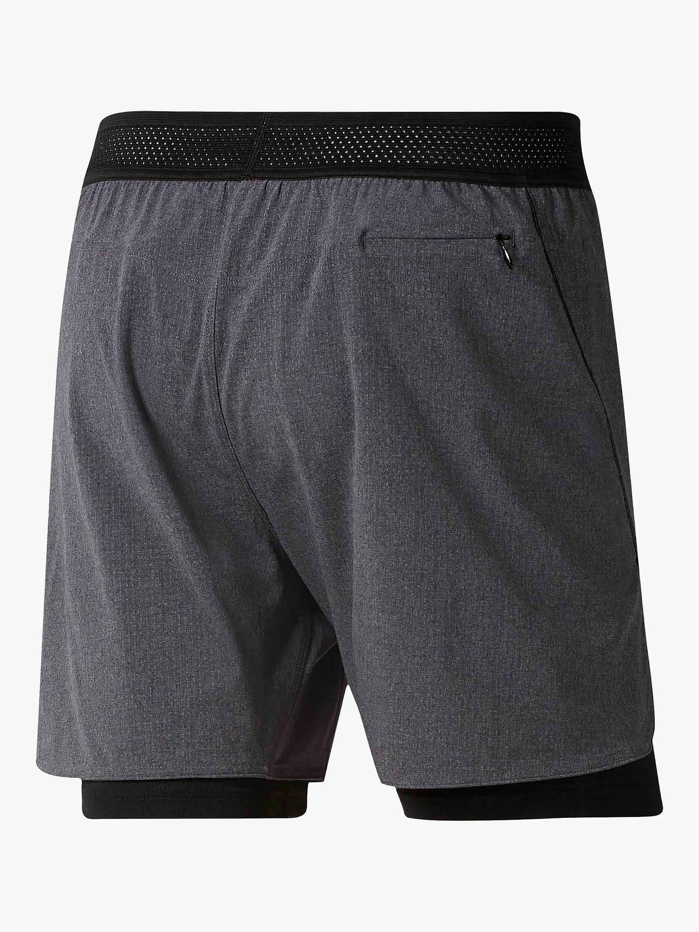 Reebok One Series Running Epic 2 in 1 Running Shorts, Black