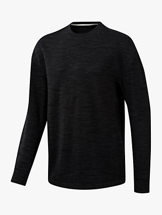 Reebok Training Essentials Marble Group Crew Sweatshirt, Black