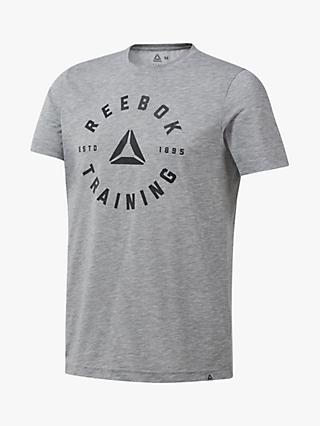 Reebok GS Training SpeedWick T-Shirt, Medium Grey Heather