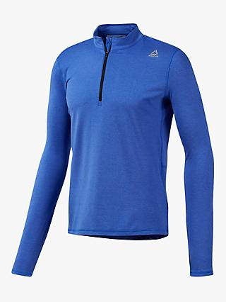 Reebok Running Essentials Quarter Zip Running Top, Crushed Cobalt