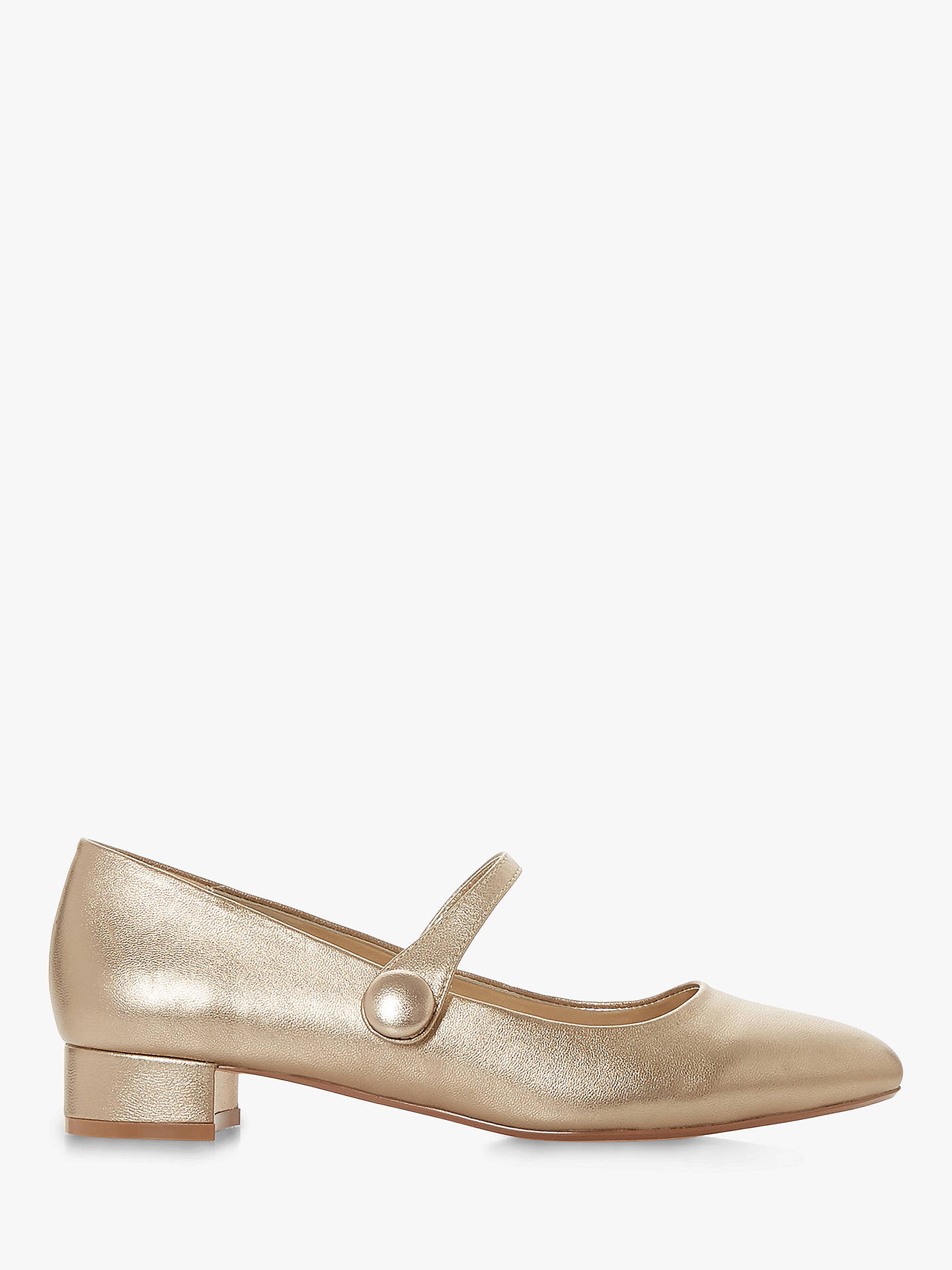 BuyDune Ballaye Mary Jane Court Shoes, Gold Leather, 4 Online at johnlewis.com