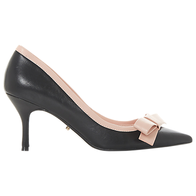 Dune Besee Bow Kitten Heel Court Shoes