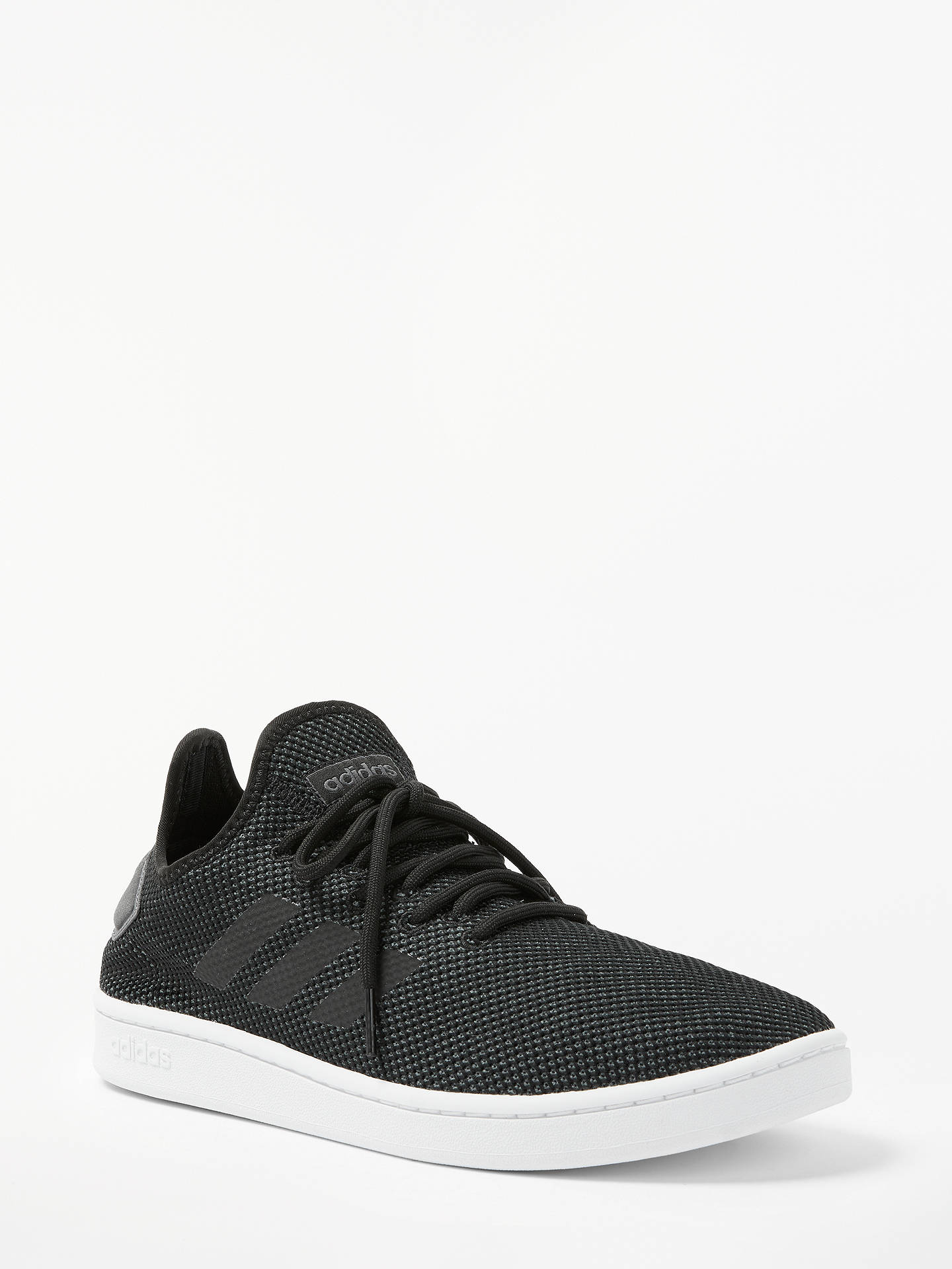 competitive price 379dc 12090 ... Buy adidas Court Adapt Men s Trainers, Core Black, 7 Online at  johnlewis. ...