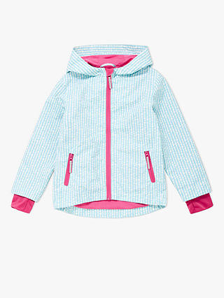 Buy John Lewis & Partners Girls' Geo Spot Jacket, Blue, 5 years Online at johnlewis.com