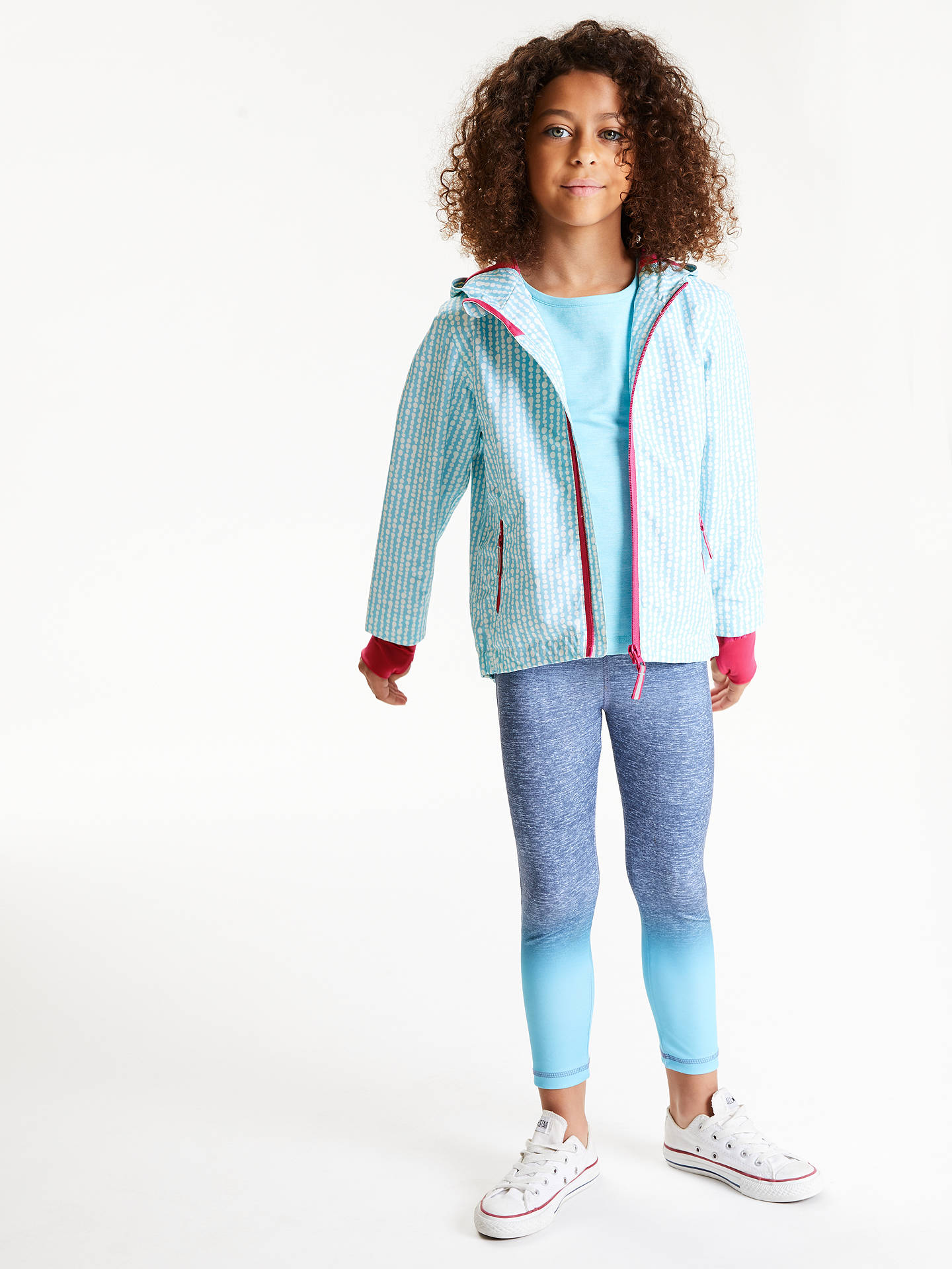 Buy John Lewis & Partners Girls' Geo Spot Jacket, Blue, 9 years Online at johnlewis.com