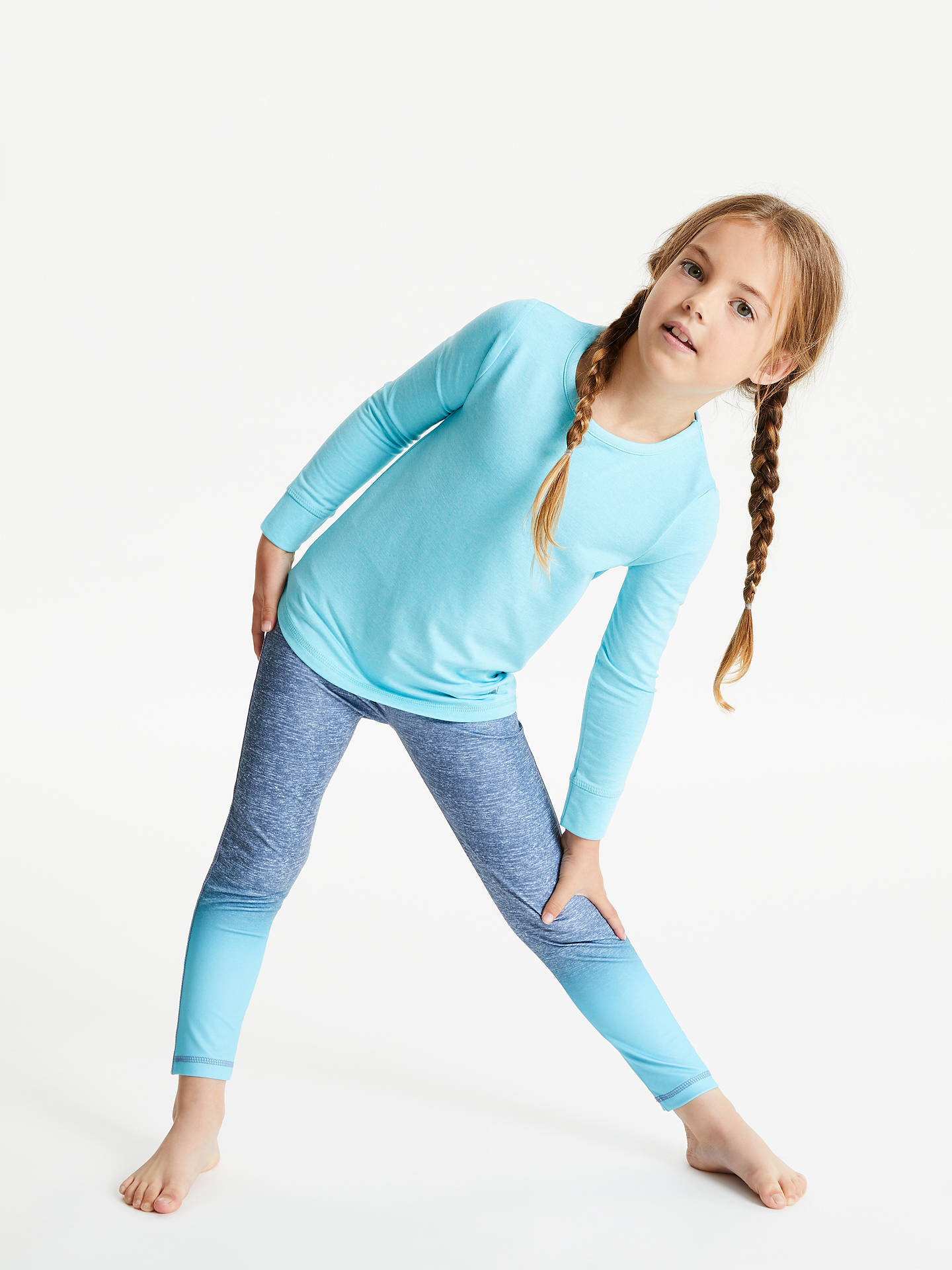 Buy John Lewis & Partners Girls' Athleisure Top, Turquoise, 3 years Online at johnlewis.com