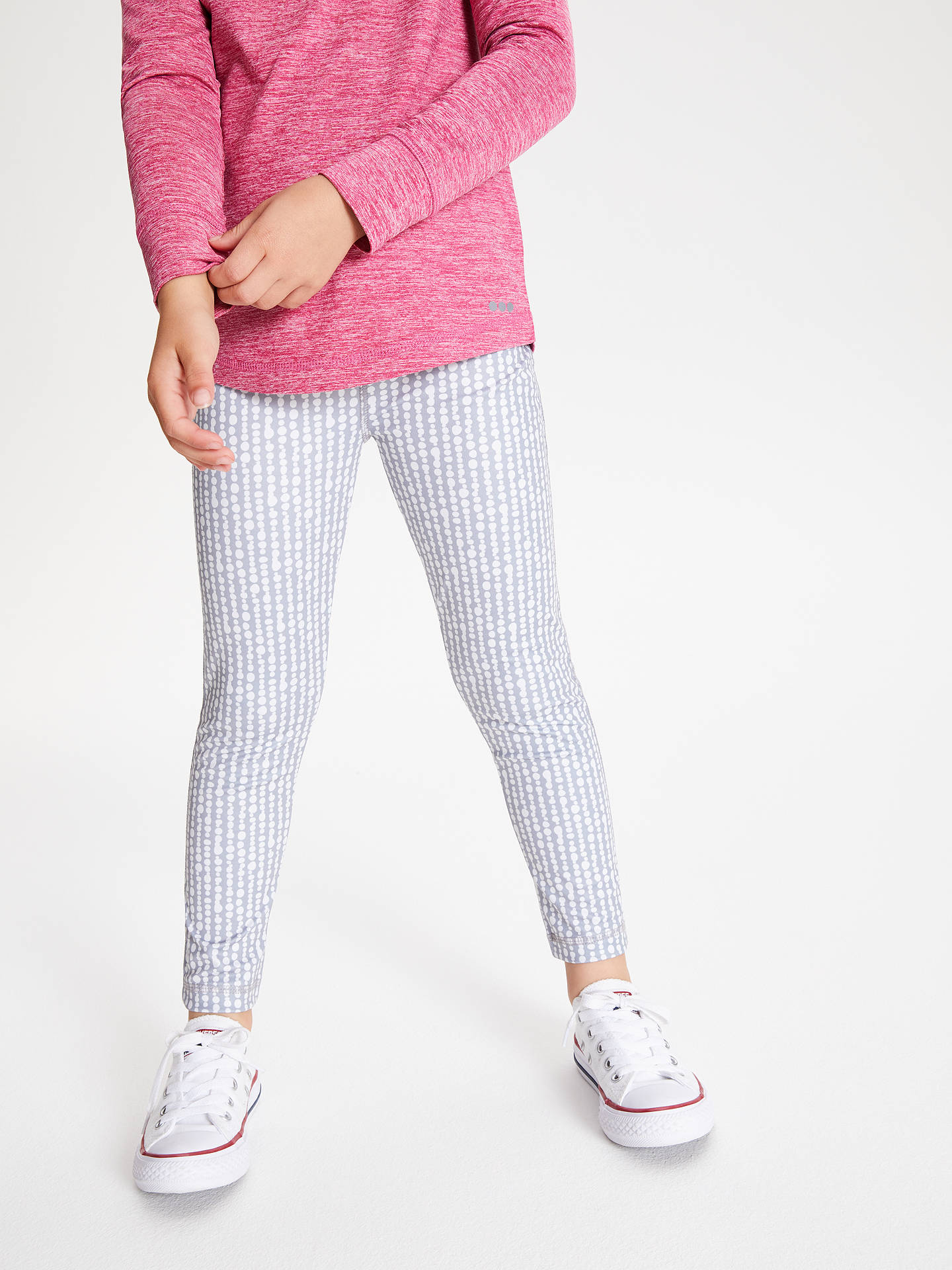 Buy John Lewis & Partners Girls' Geo Spot Leggings, Grey, 5 years Online at johnlewis.com