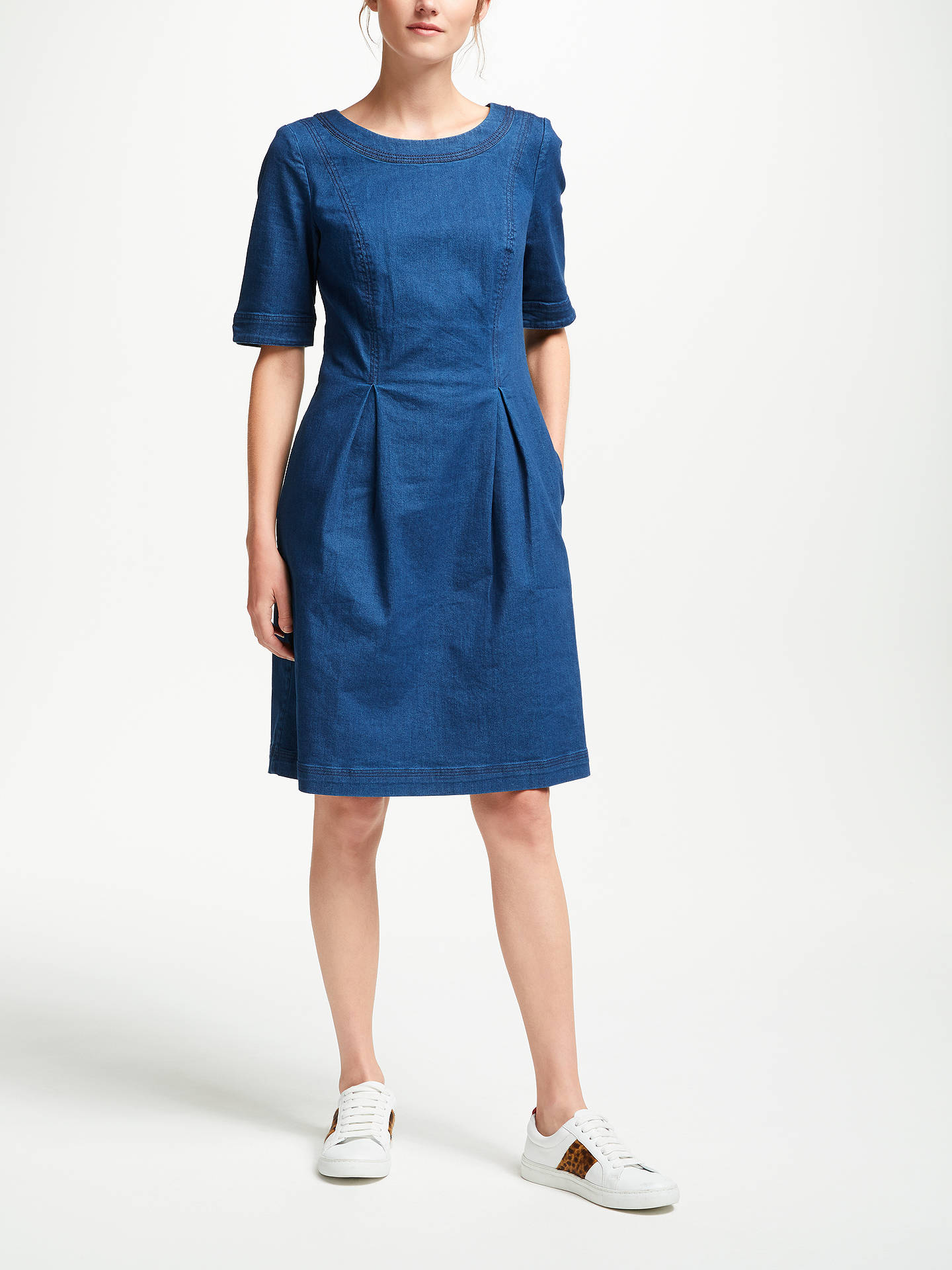 BuyBoden Alice Denim Dress, Bright Blue, 10 Online at johnlewis.com