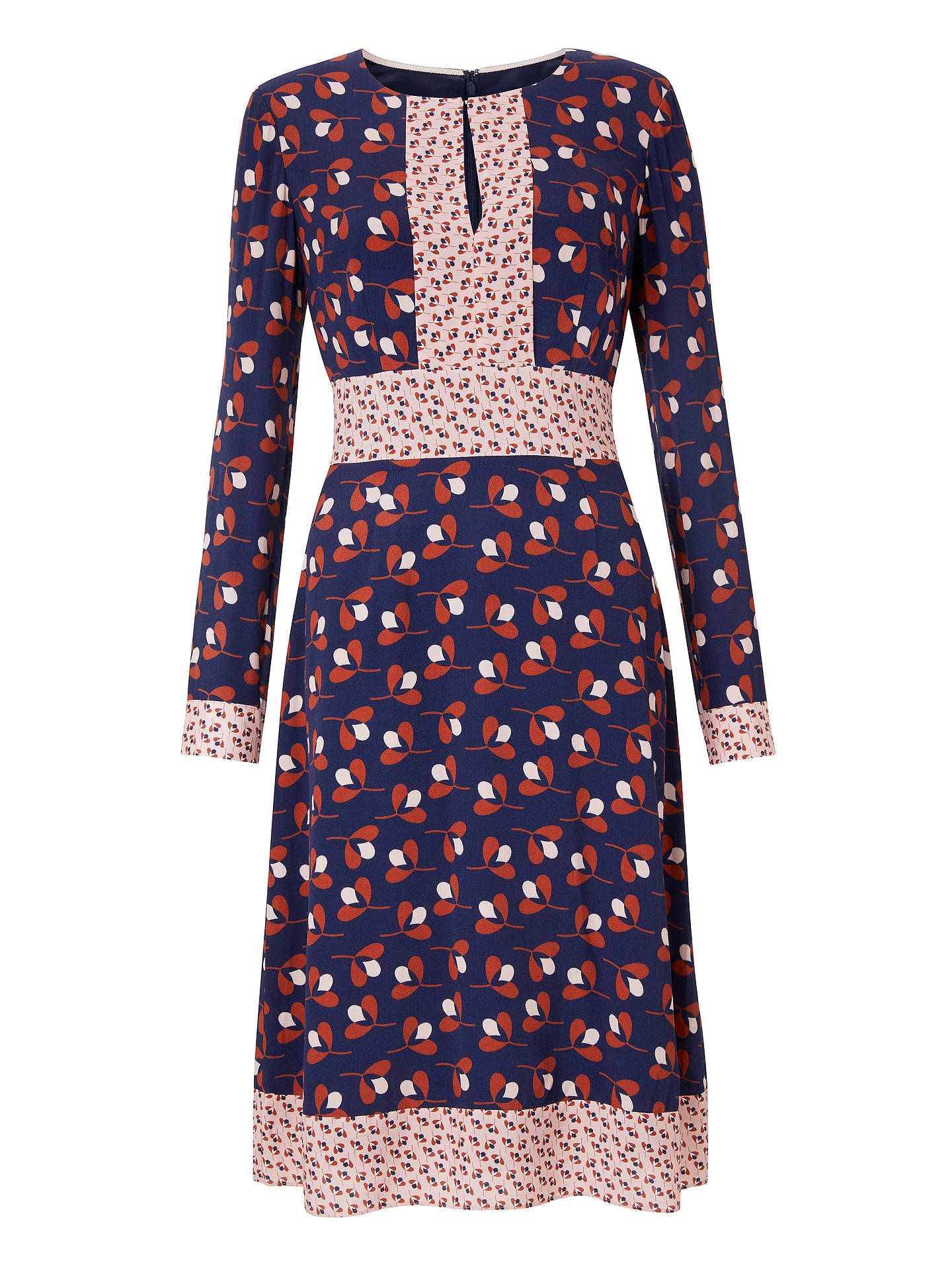 BuyBoden Daisy Conker Dress, Navy/Red, 10 Online at johnlewis.com