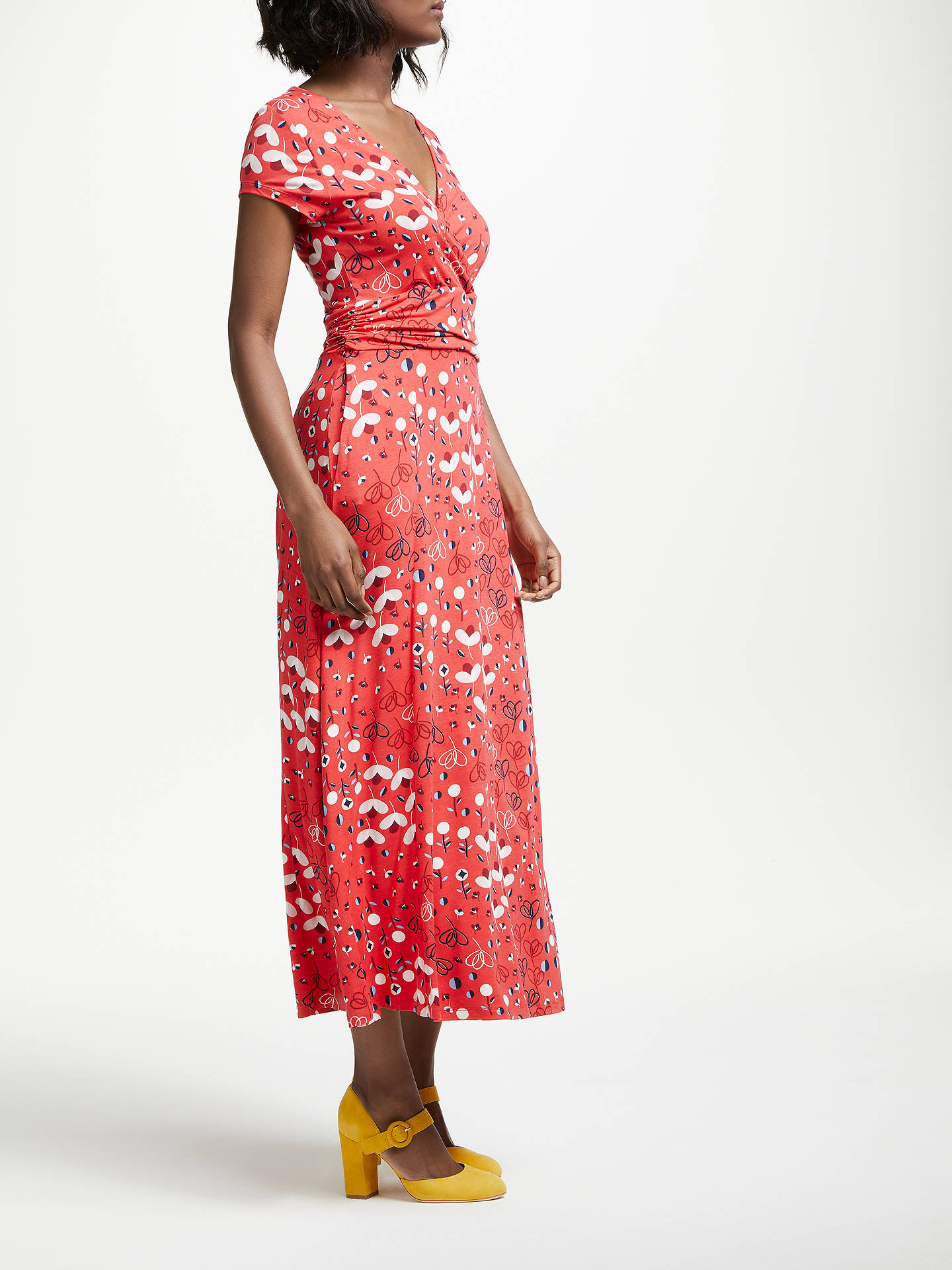 BuyBoden Lily Jersey Dress, Pop Peony Meadow, 10 Online at johnlewis.com