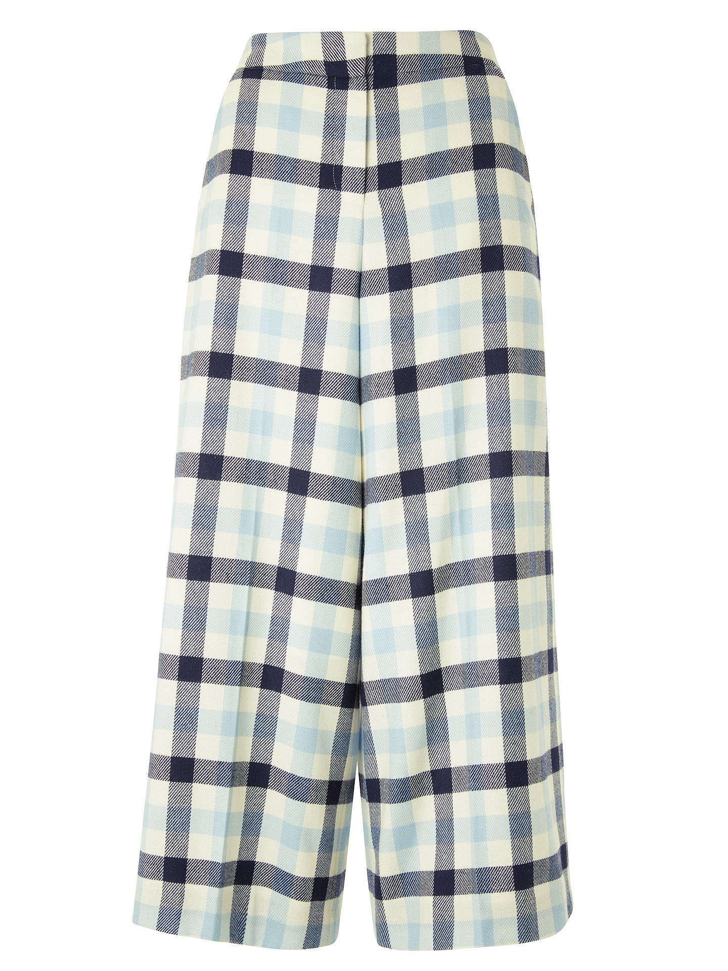 Boden Tweed Check Culotte Trousers Ivory Navy Breeze At John Lewis Tendencies Chinos Short 28 Buyboden 10 Online