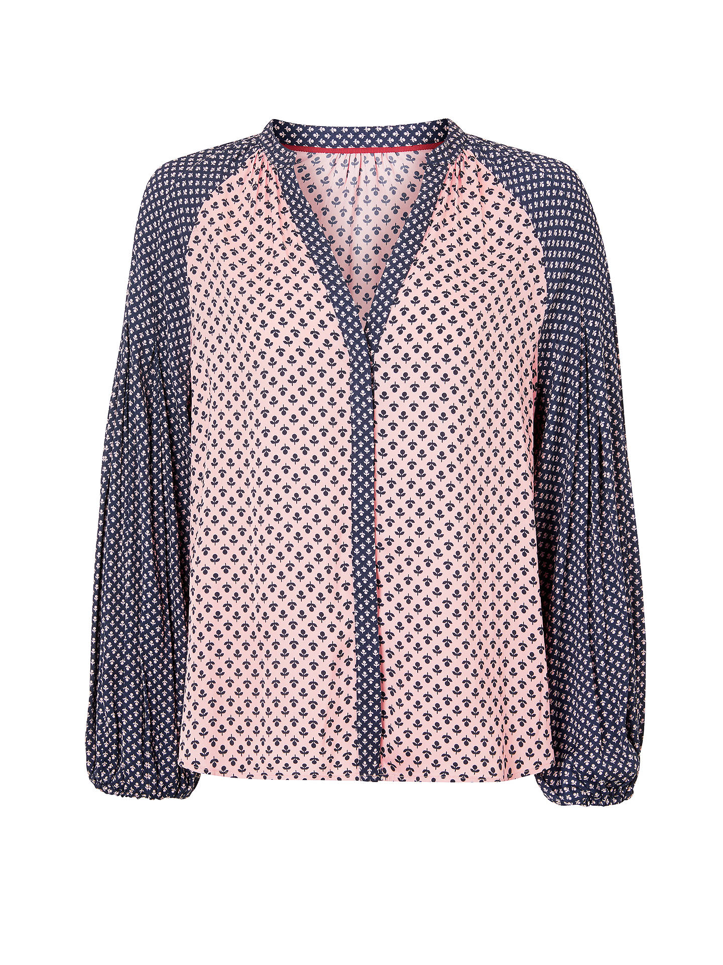 BuyBoden Harriet Blouse, Navy/Multi, 8 Online at johnlewis.com